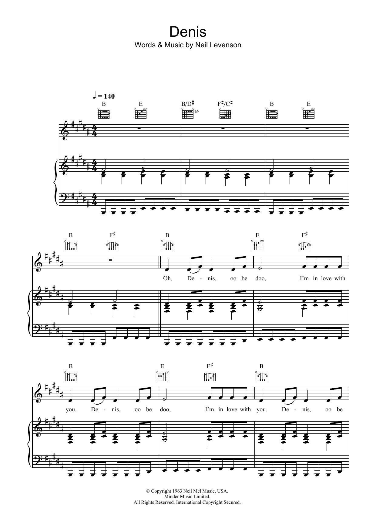 Denis Sheet Music