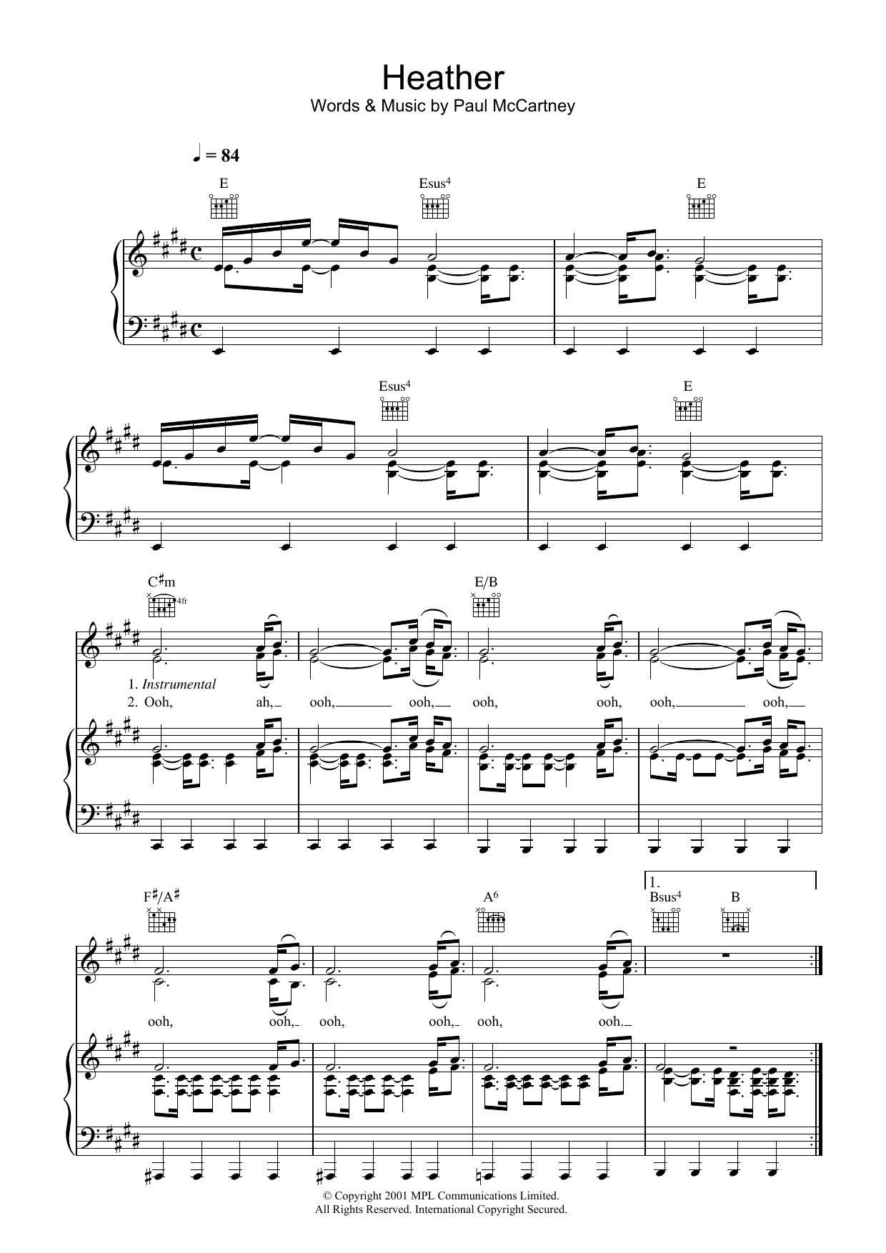 Heather (Piano, Vocal & Guitar)