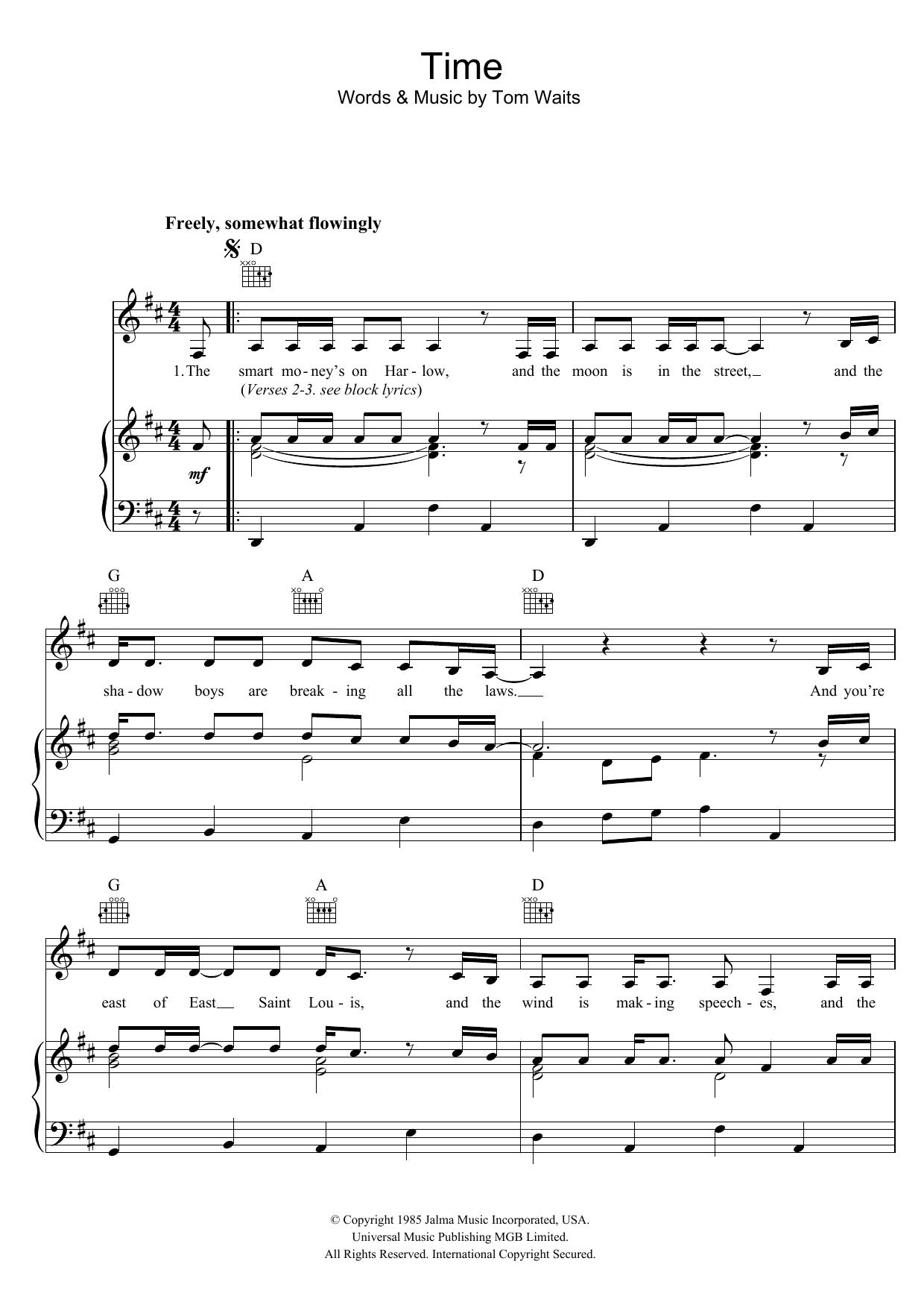 Time (Piano, Vocal & Guitar)