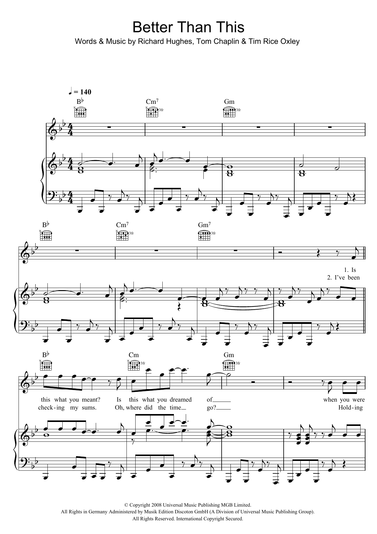 Better Than This Sheet Music