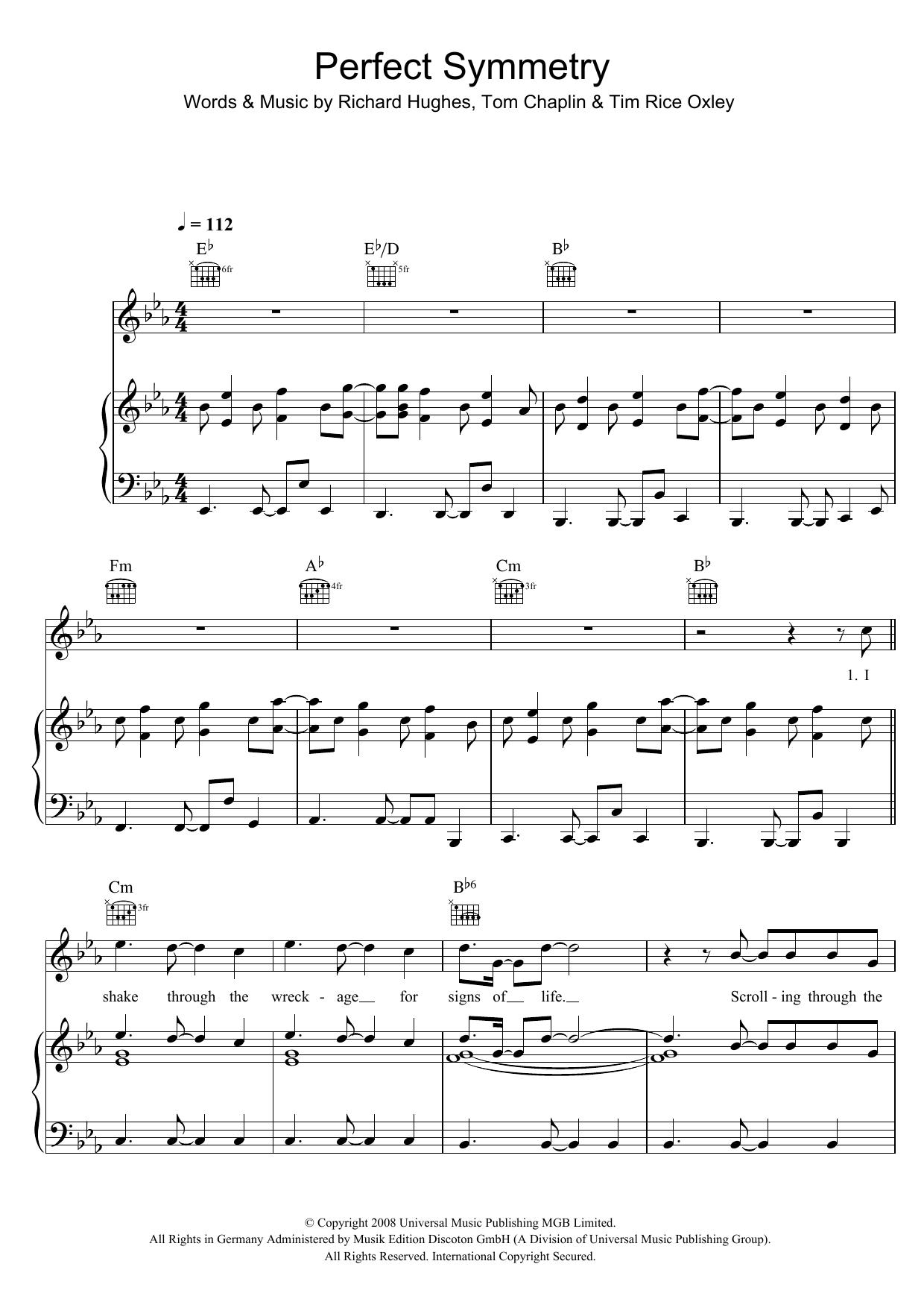 Perfect Symmetry Sheet Music