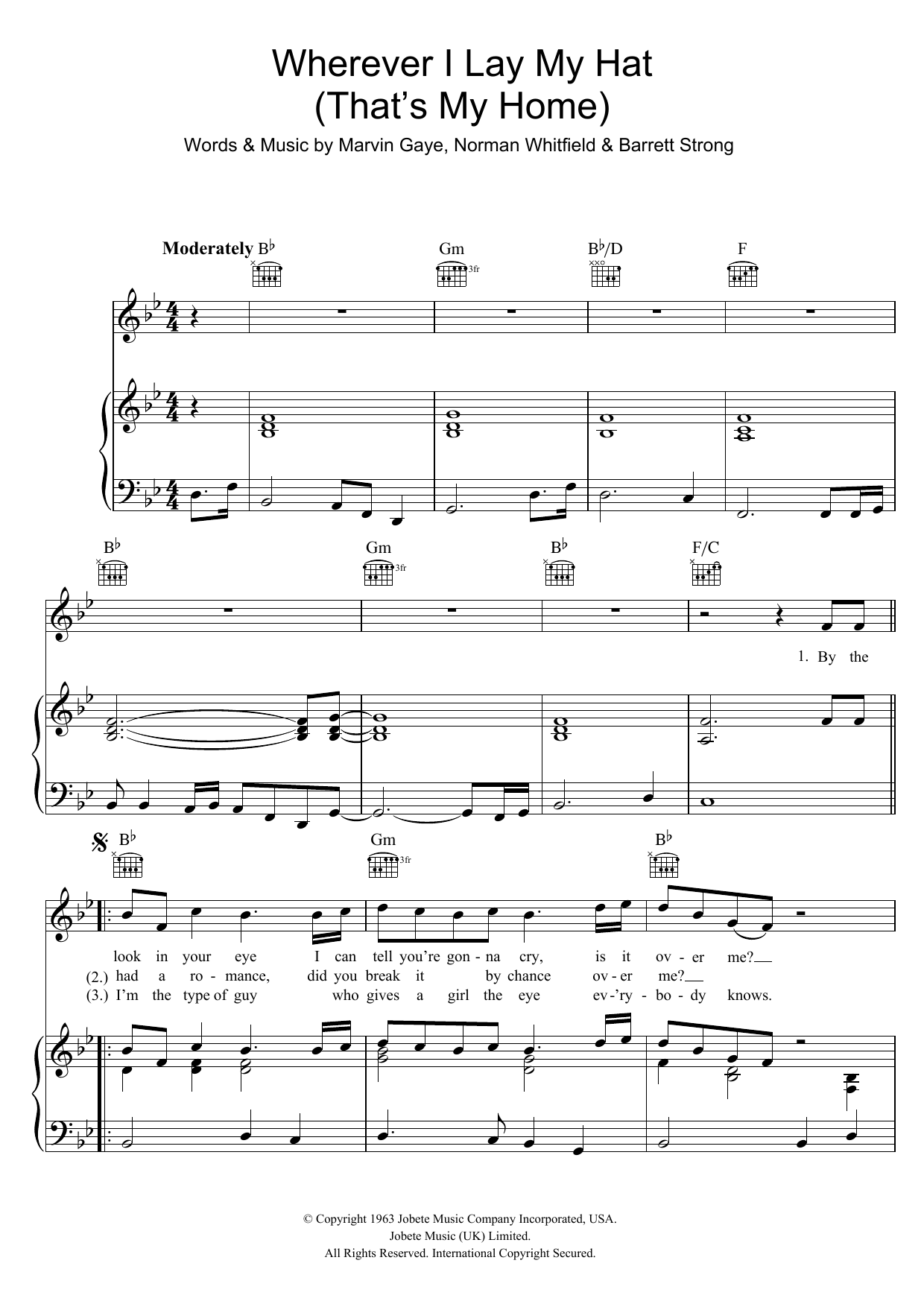 Wherever I Lay My Hat (That's My Home) Sheet Music