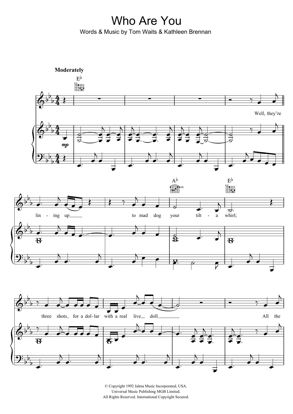 Who Are You (Piano, Vocal & Guitar)
