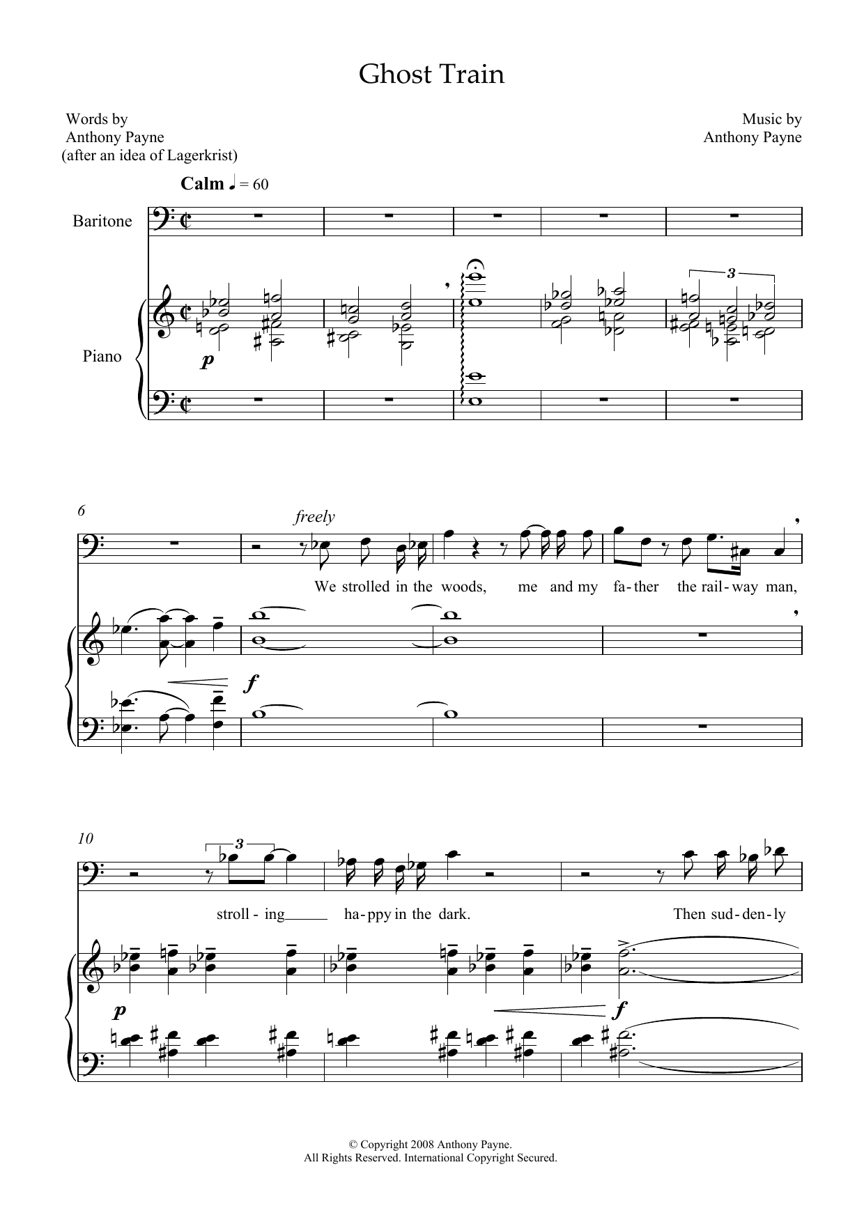 Ghost Train (for baritone and piano) (Piano & Vocal)