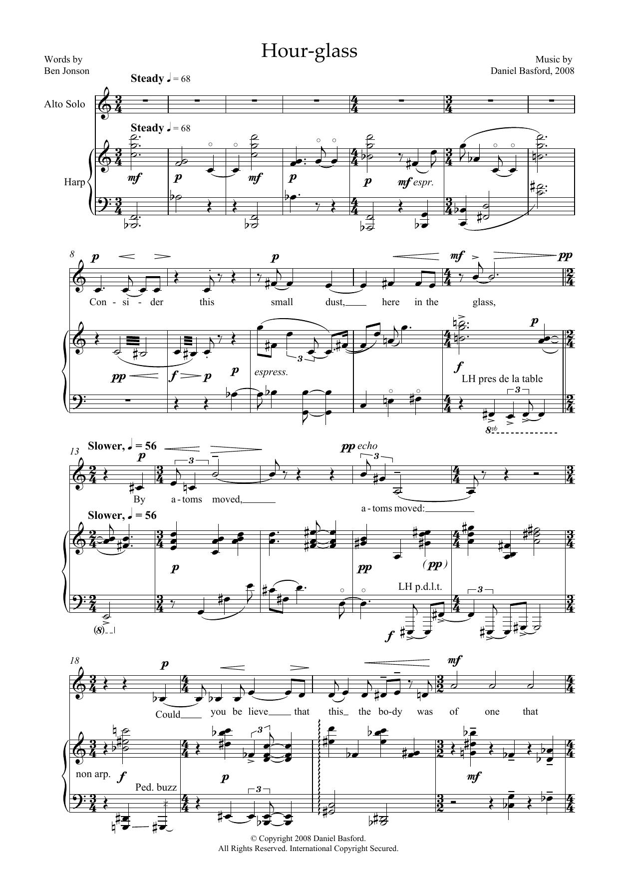 Hour-glass (for alto and harp) (Piano & Vocal)