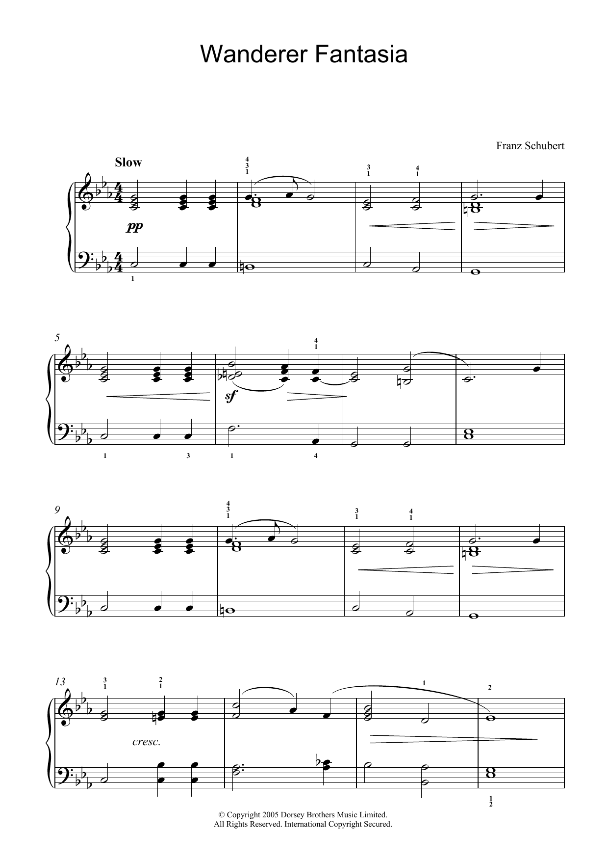 Wanderer Fantasia (Piano Solo)