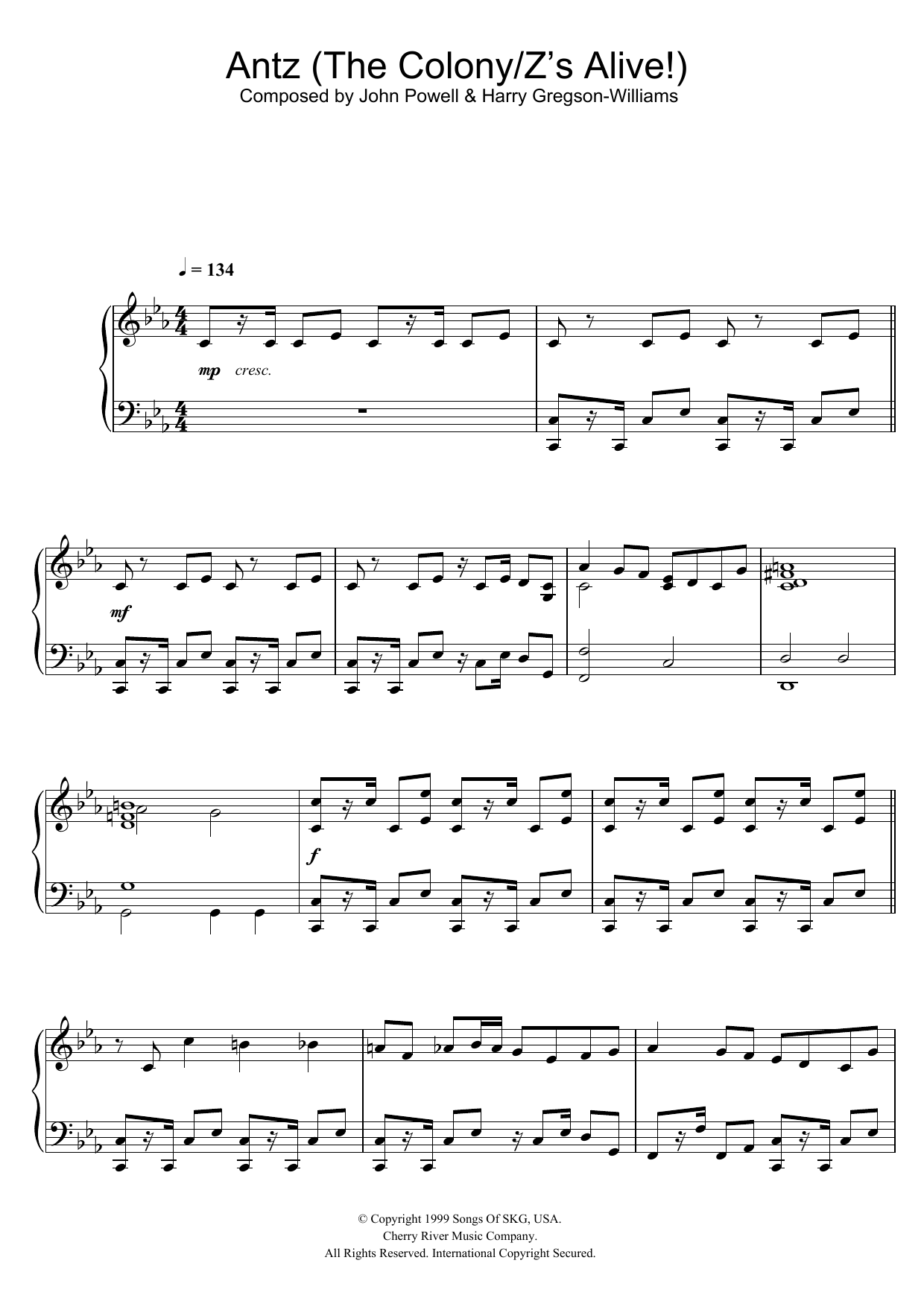 Antz (The Colony/Z's Alive!) Sheet Music