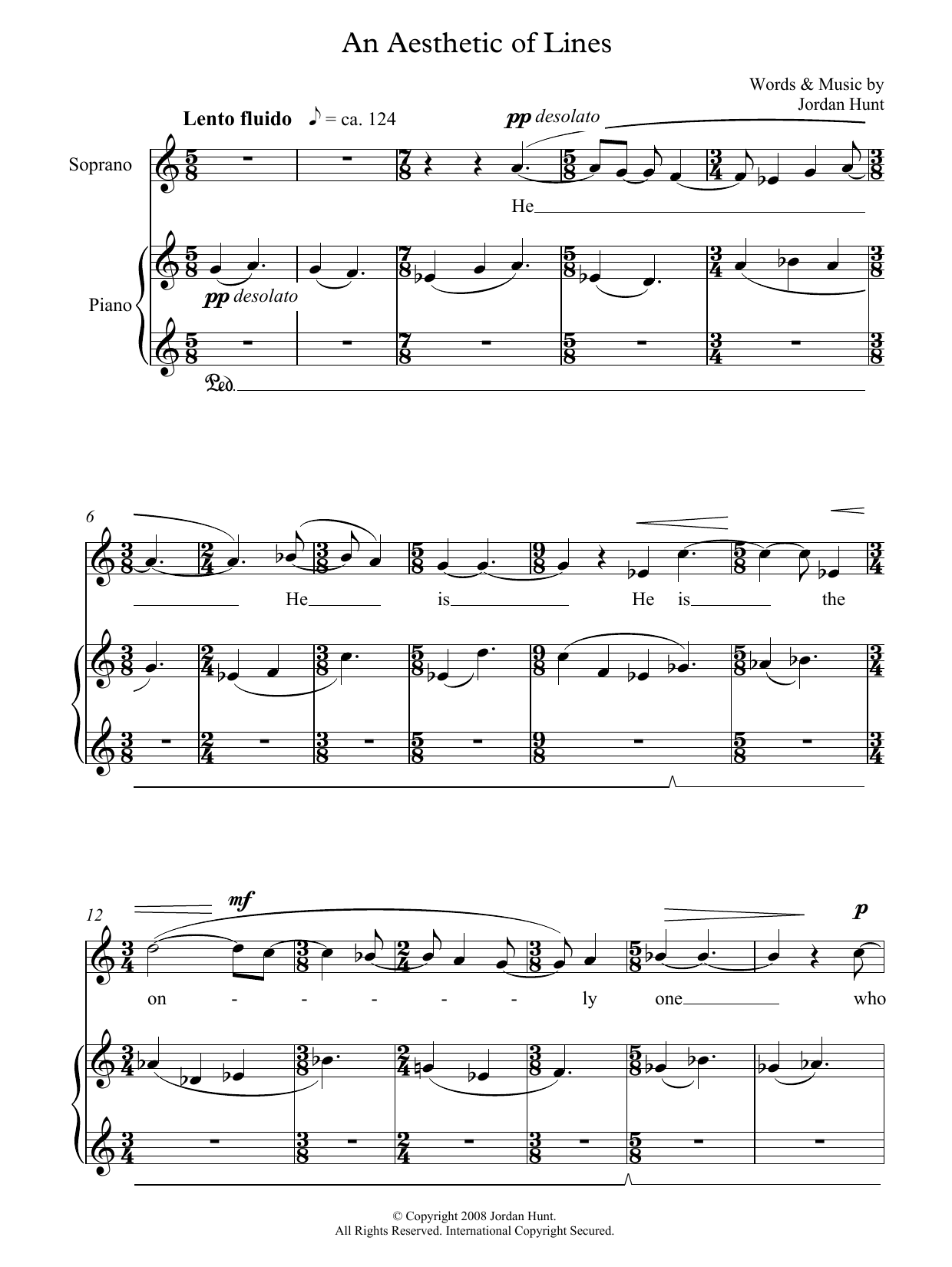 An Aesthetic of Lines (for soprano and piano) (Piano & Vocal)