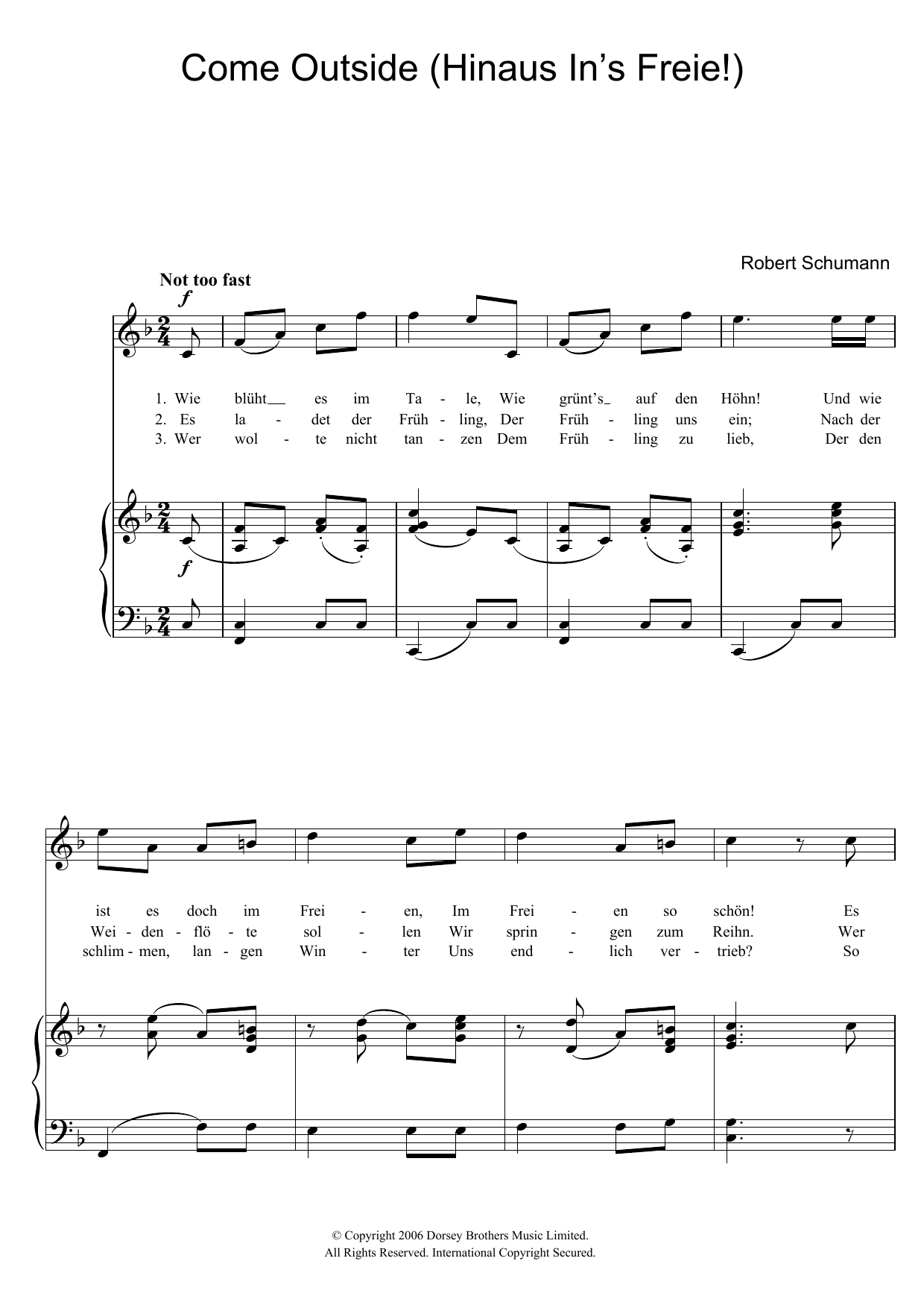 Hinaus In's Freie! (Come Outside!) Sheet Music