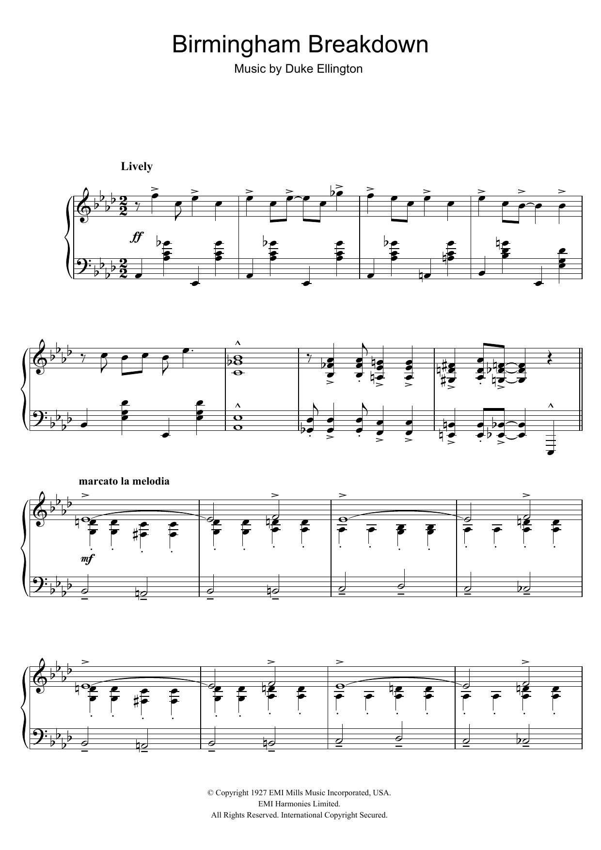 Birmingham Breakdown (Piano Solo)