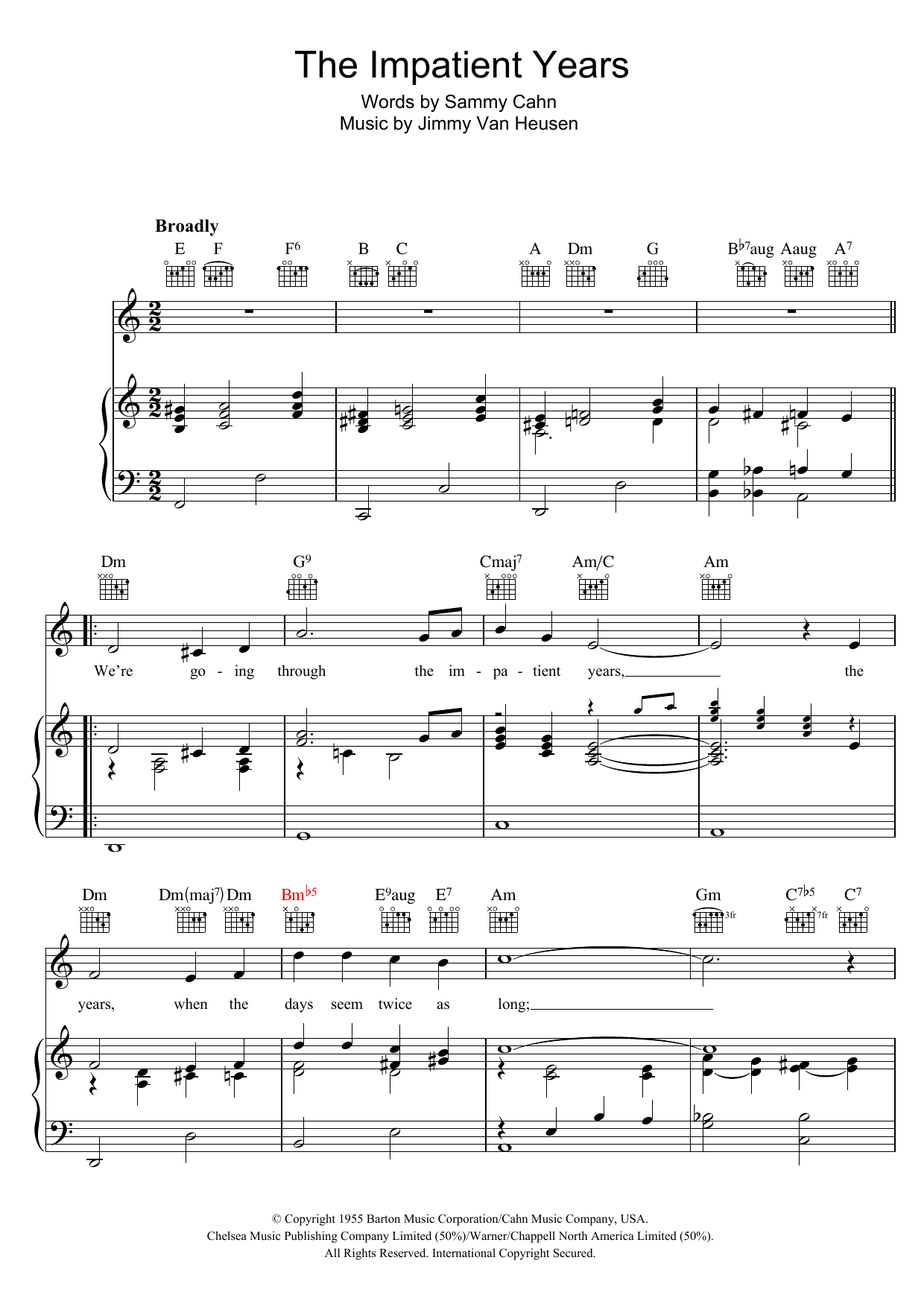 The Impatient Years Sheet Music