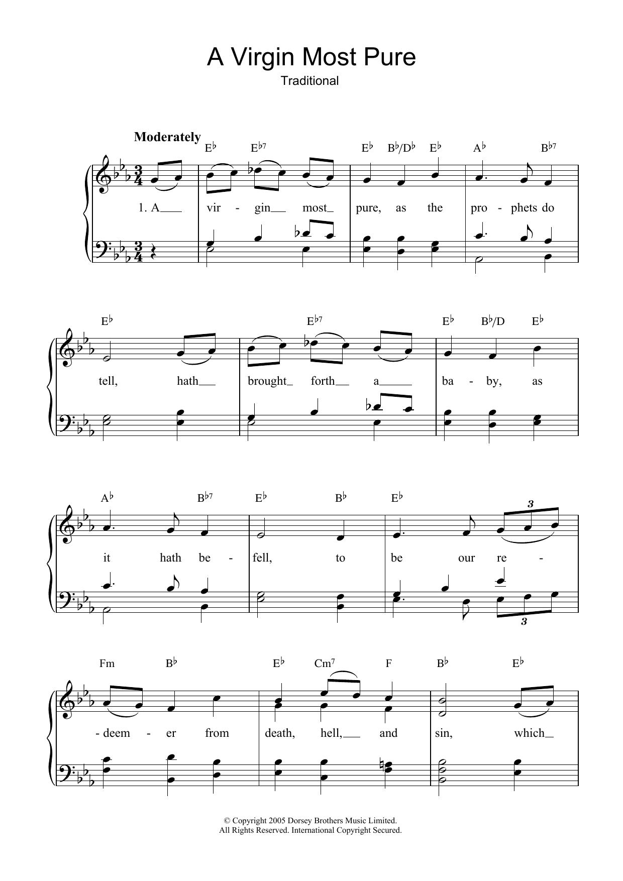 A Virgin Most Pure Sheet Music