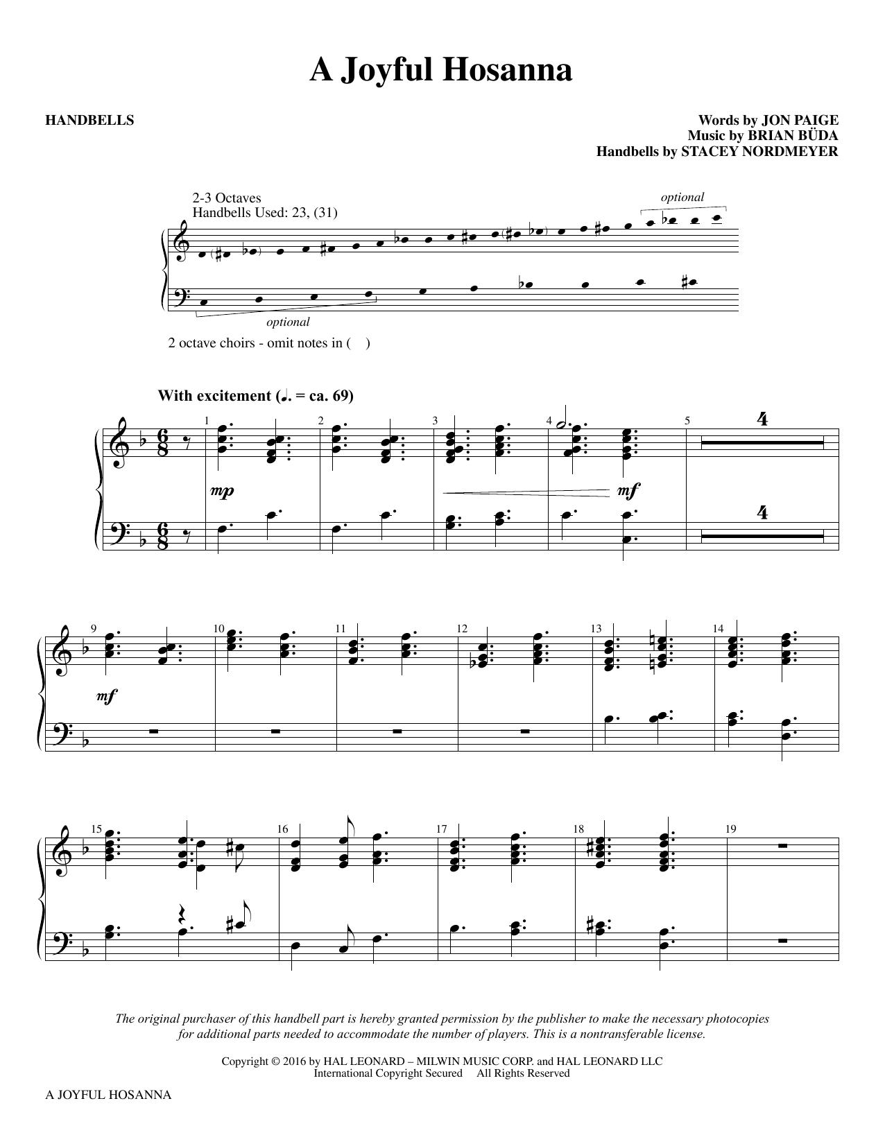 A Joyful Hosanna - Handbells Sheet Music