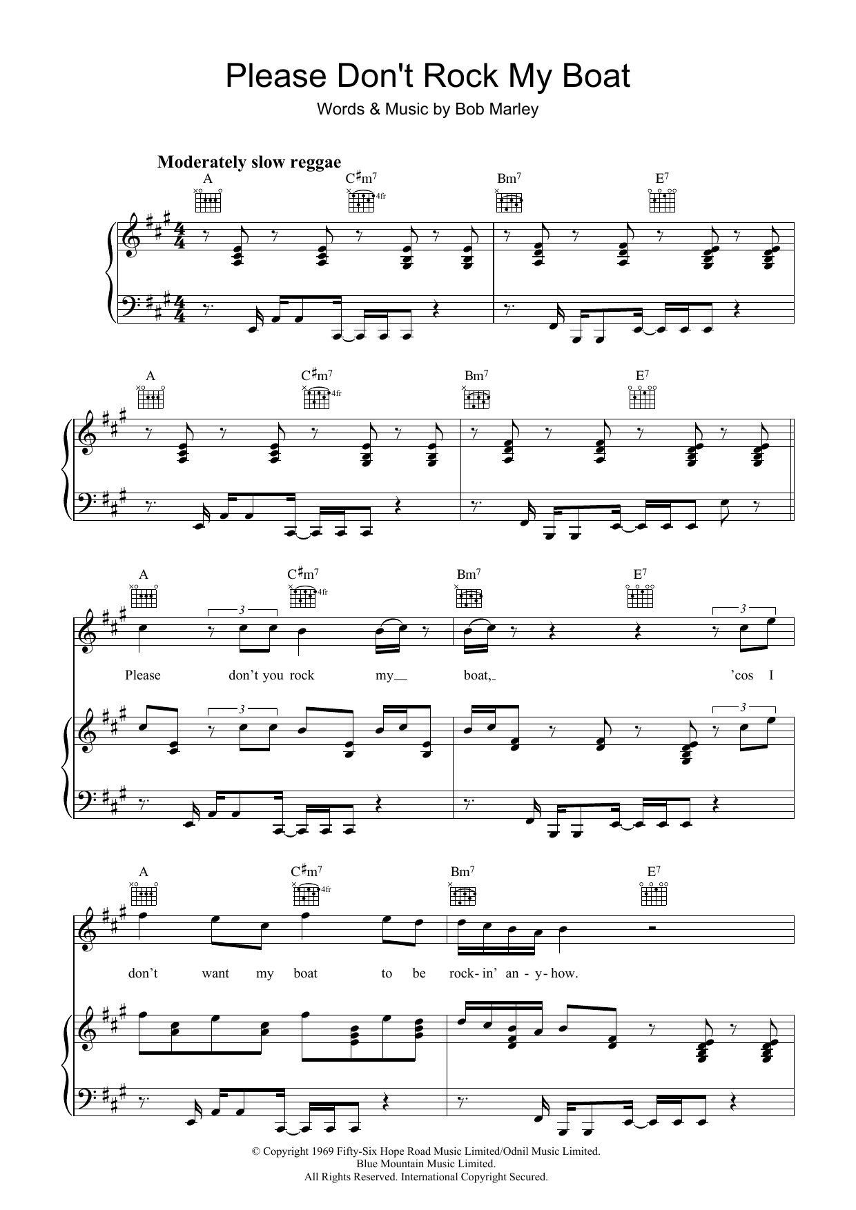 Please Don't Rock My Boat (Piano, Vocal & Guitar)