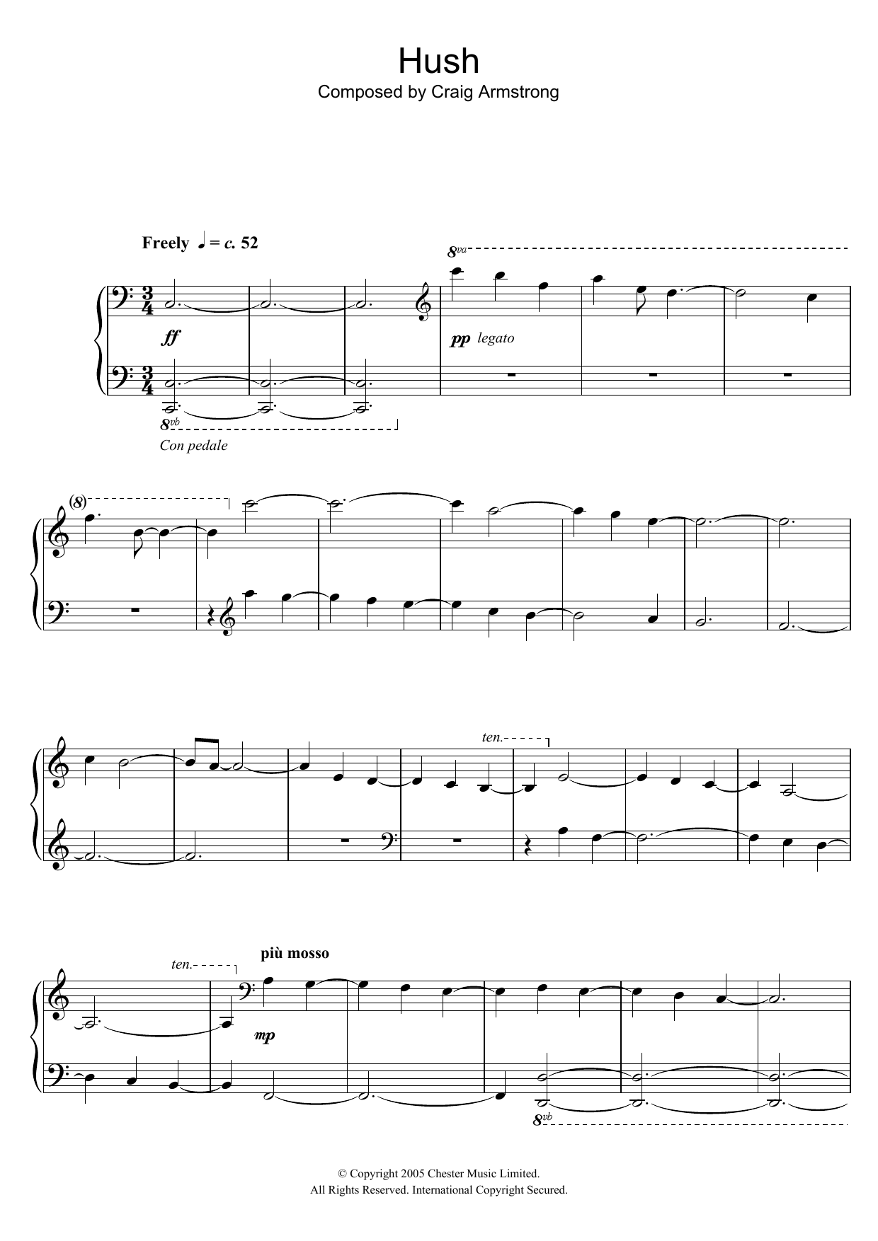 Hush Sheet Music