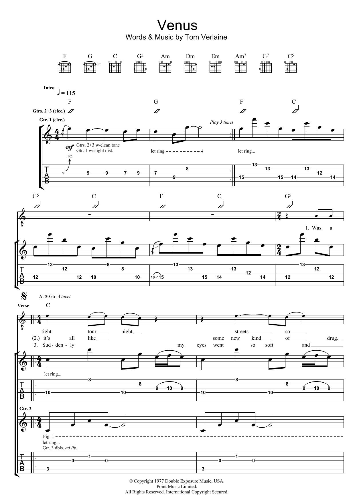 Venus (Guitar Tab)