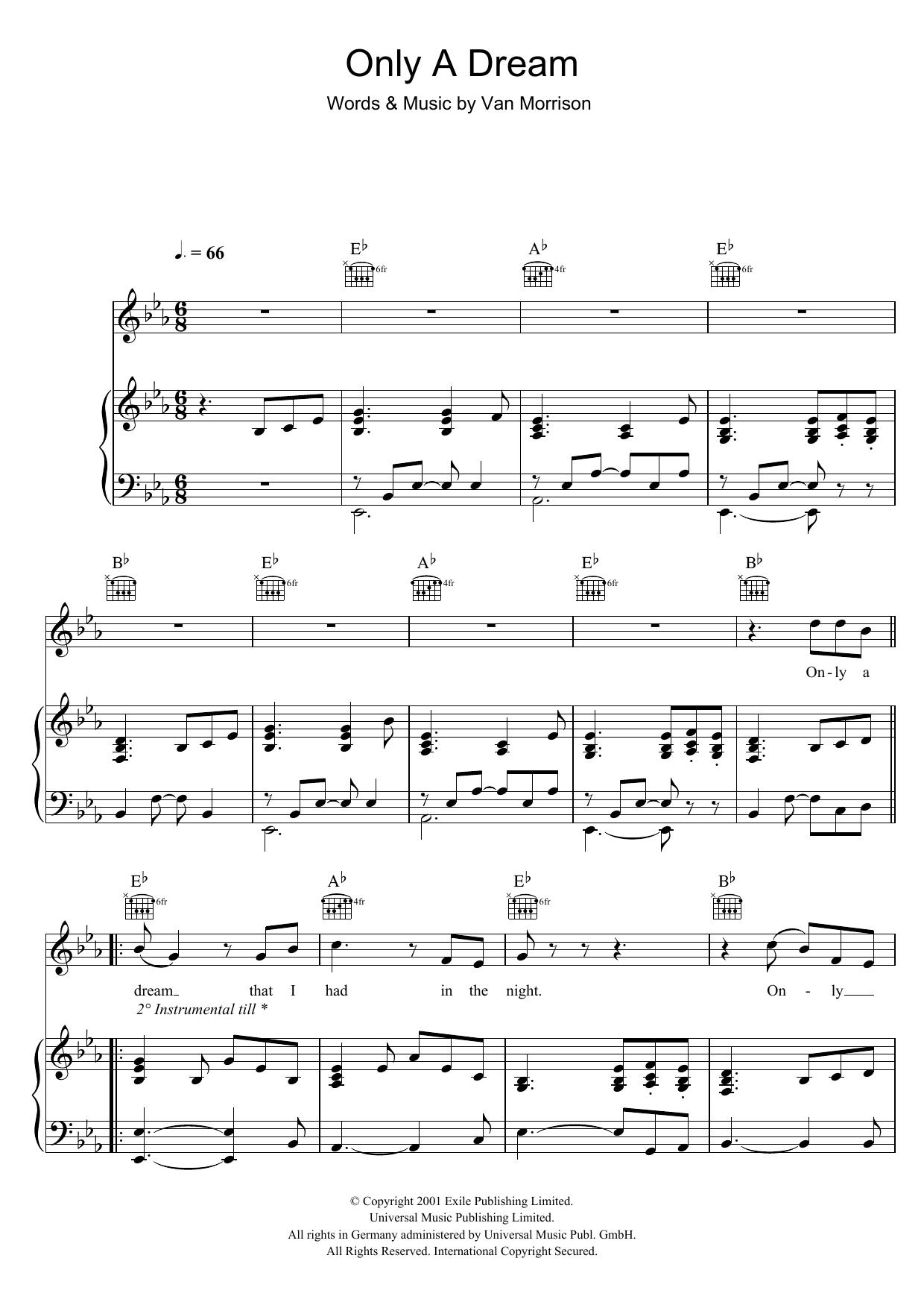 Only A Dream (Piano, Vocal & Guitar)