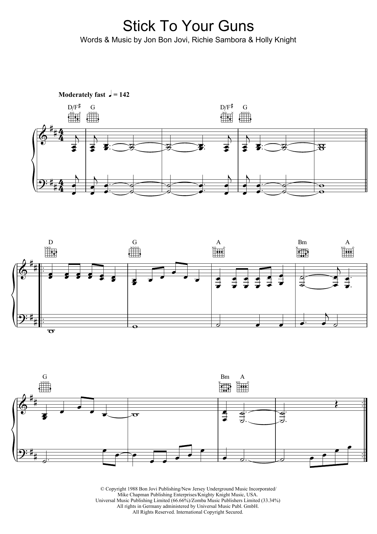 Stick To Your Guns Sheet Music