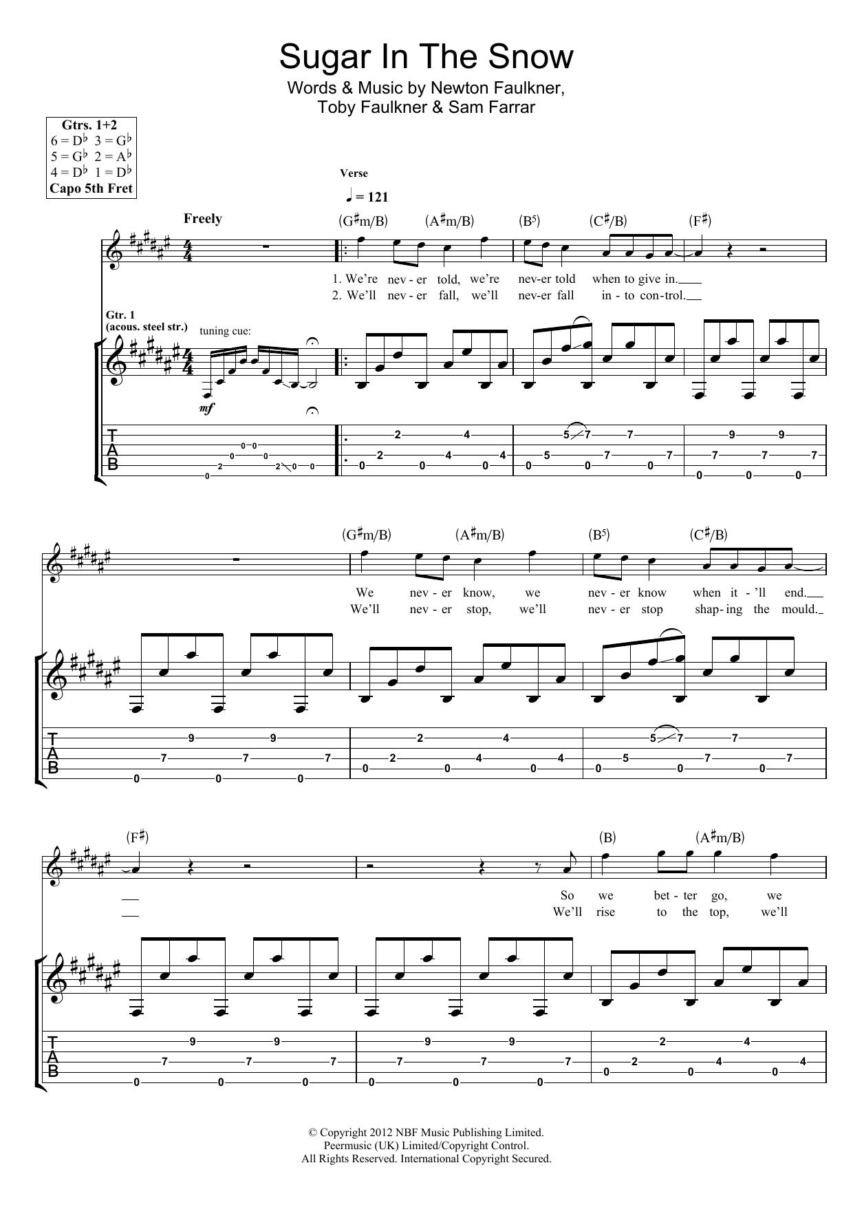 Sugar In The Snow (Guitar Tab)