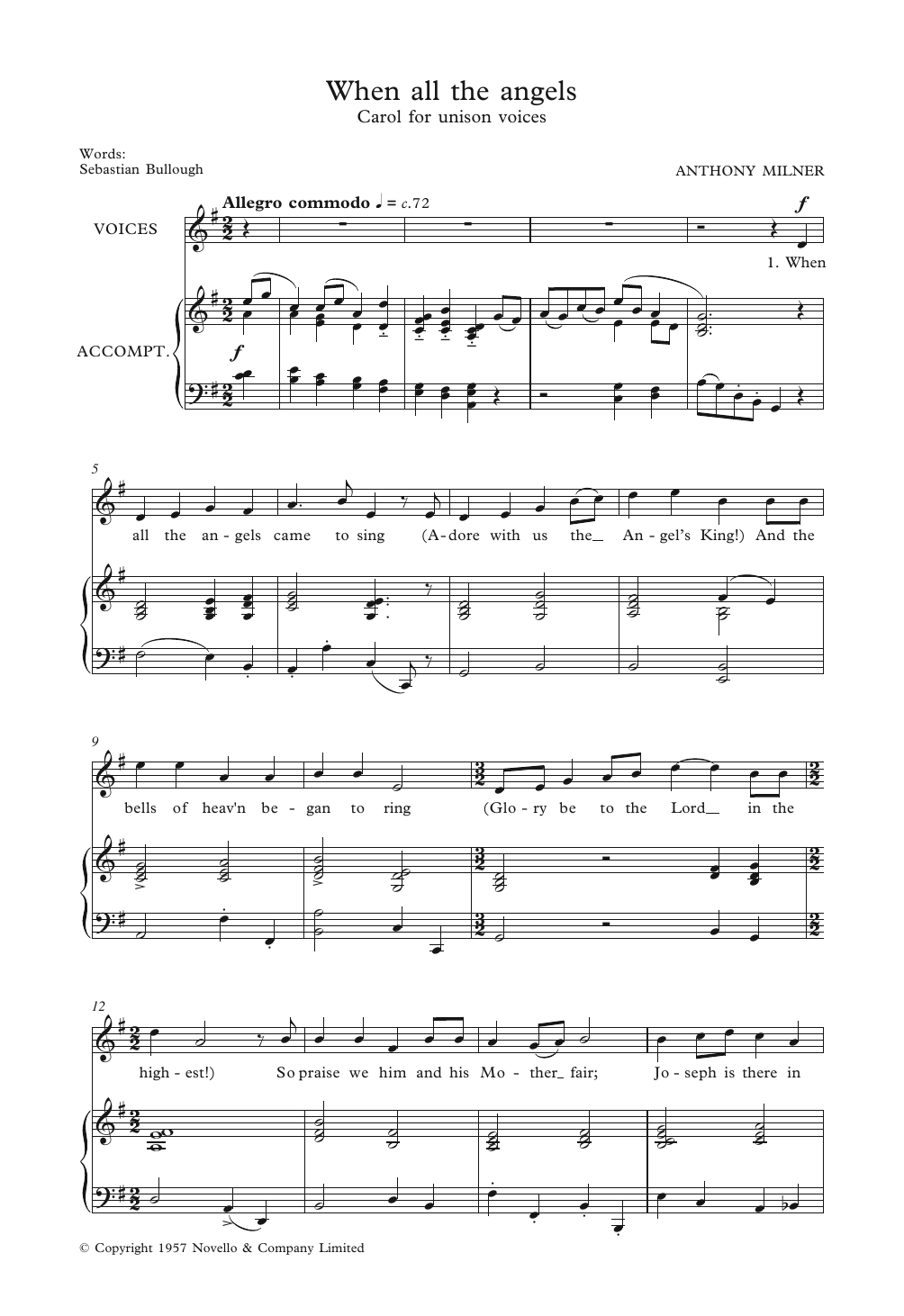 When All The Angels Sheet Music