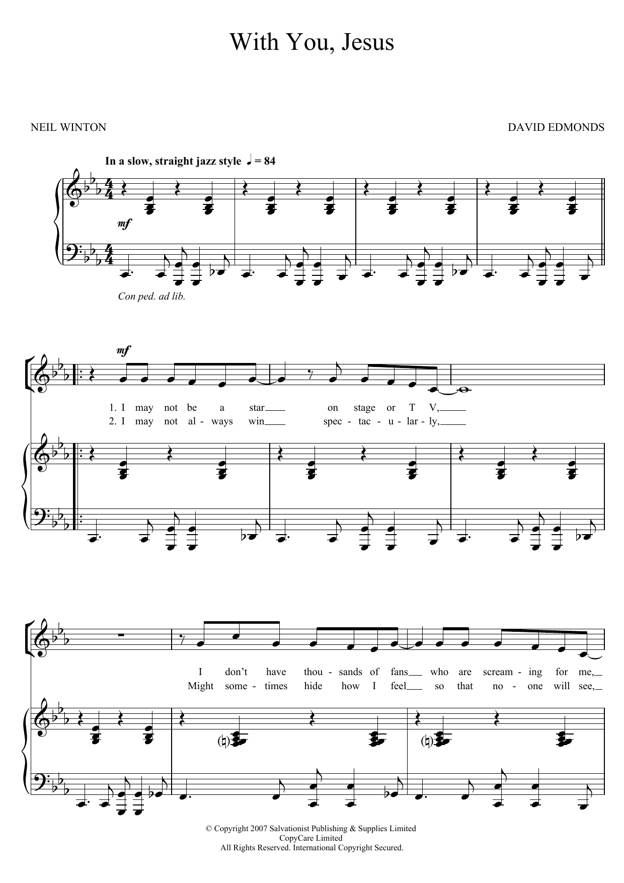 With You, Jesus Sheet Music