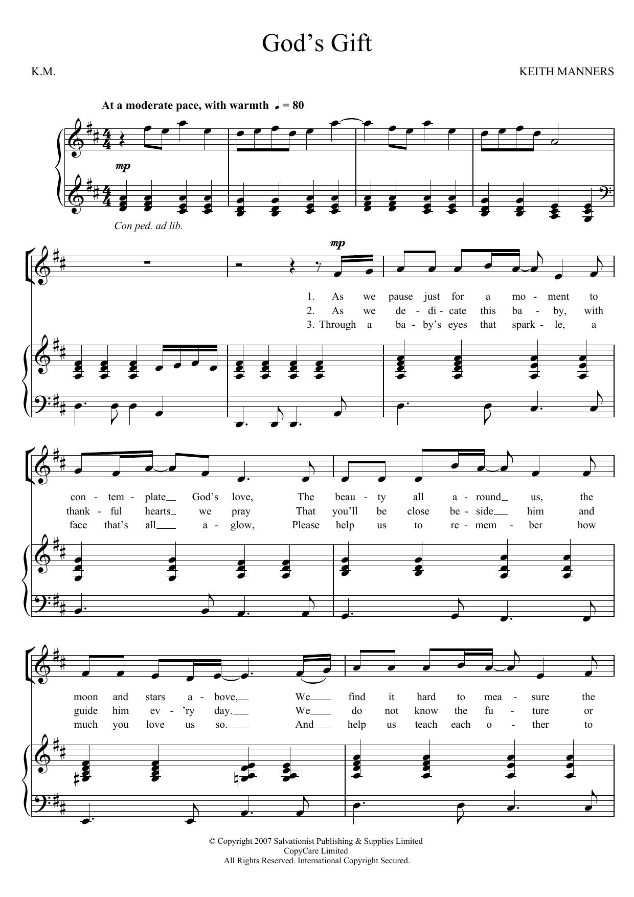 God's Gift Sheet Music