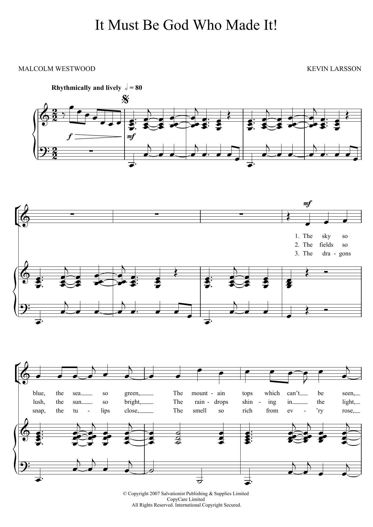 It Must Be God Who Made It Sheet Music