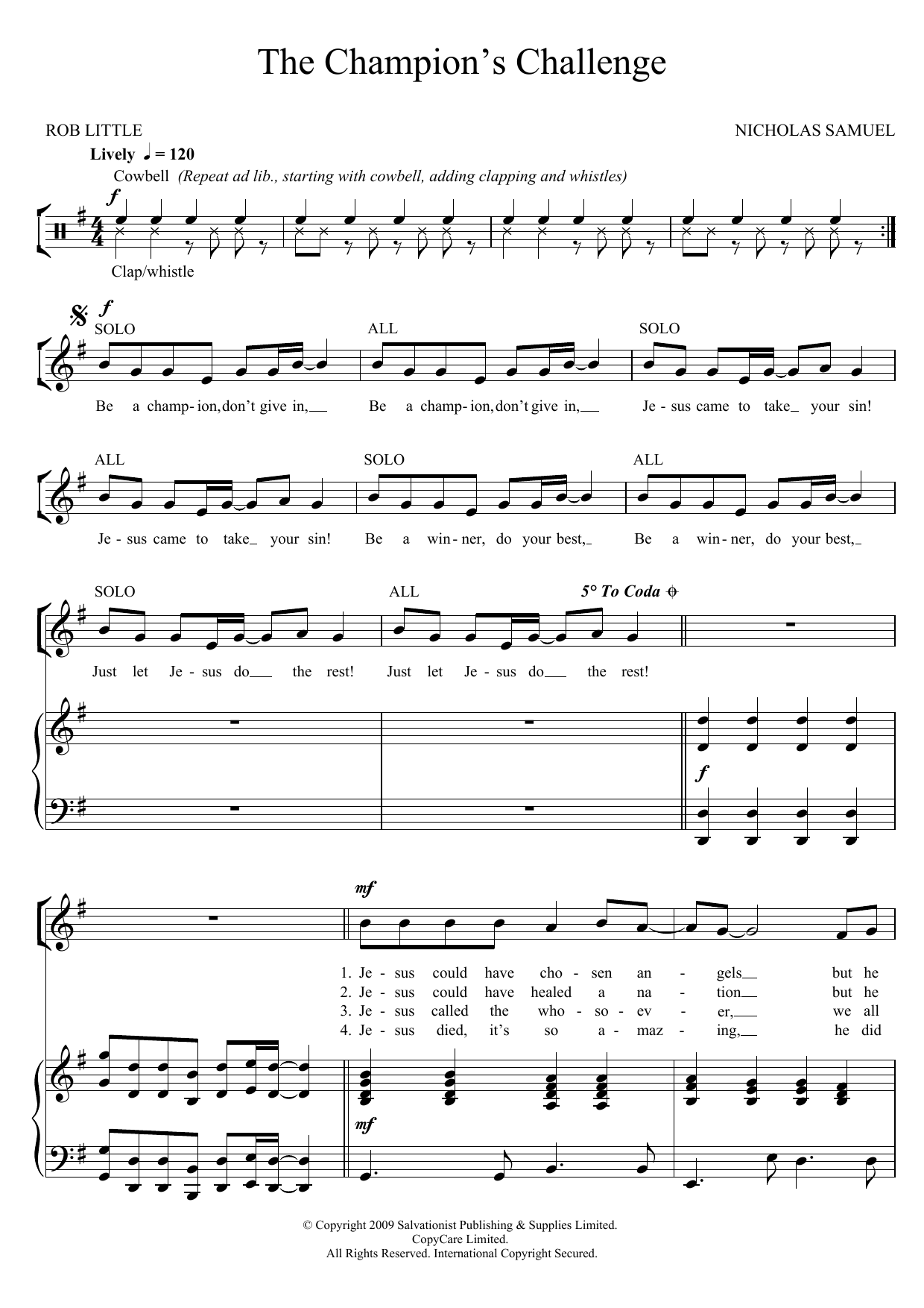 The Champion's Challenge Sheet Music