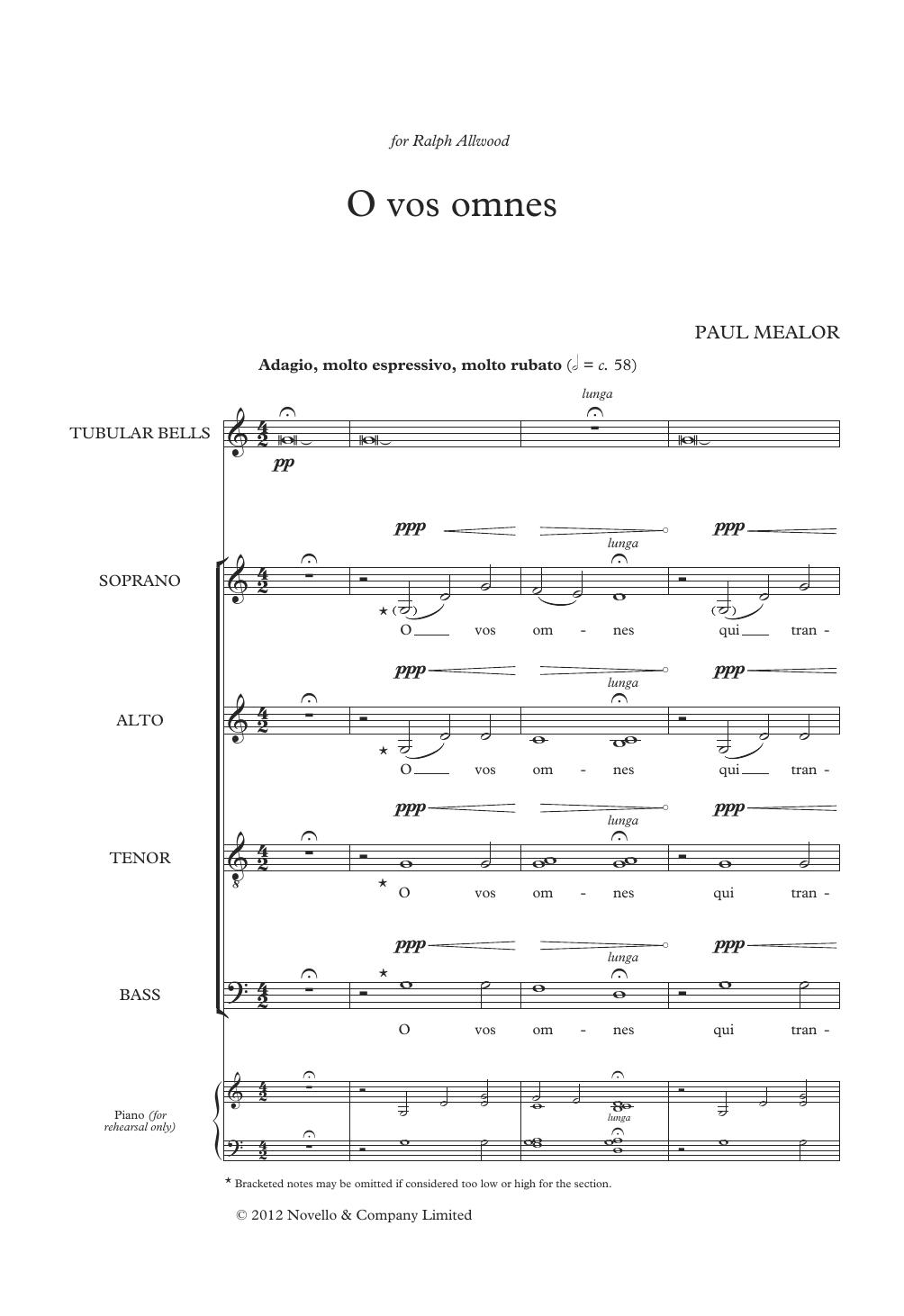 O Vos Omnes Sheet Music