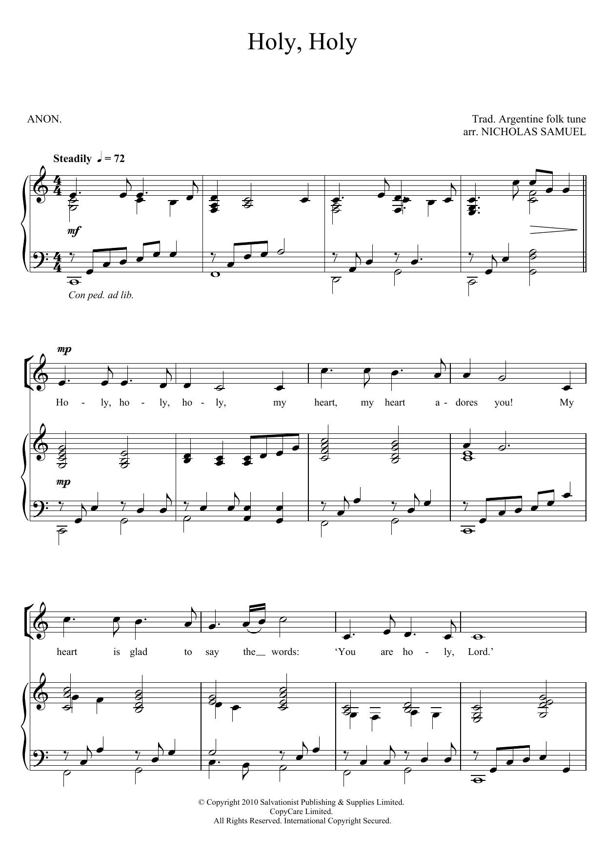 Holy, Holy Sheet Music