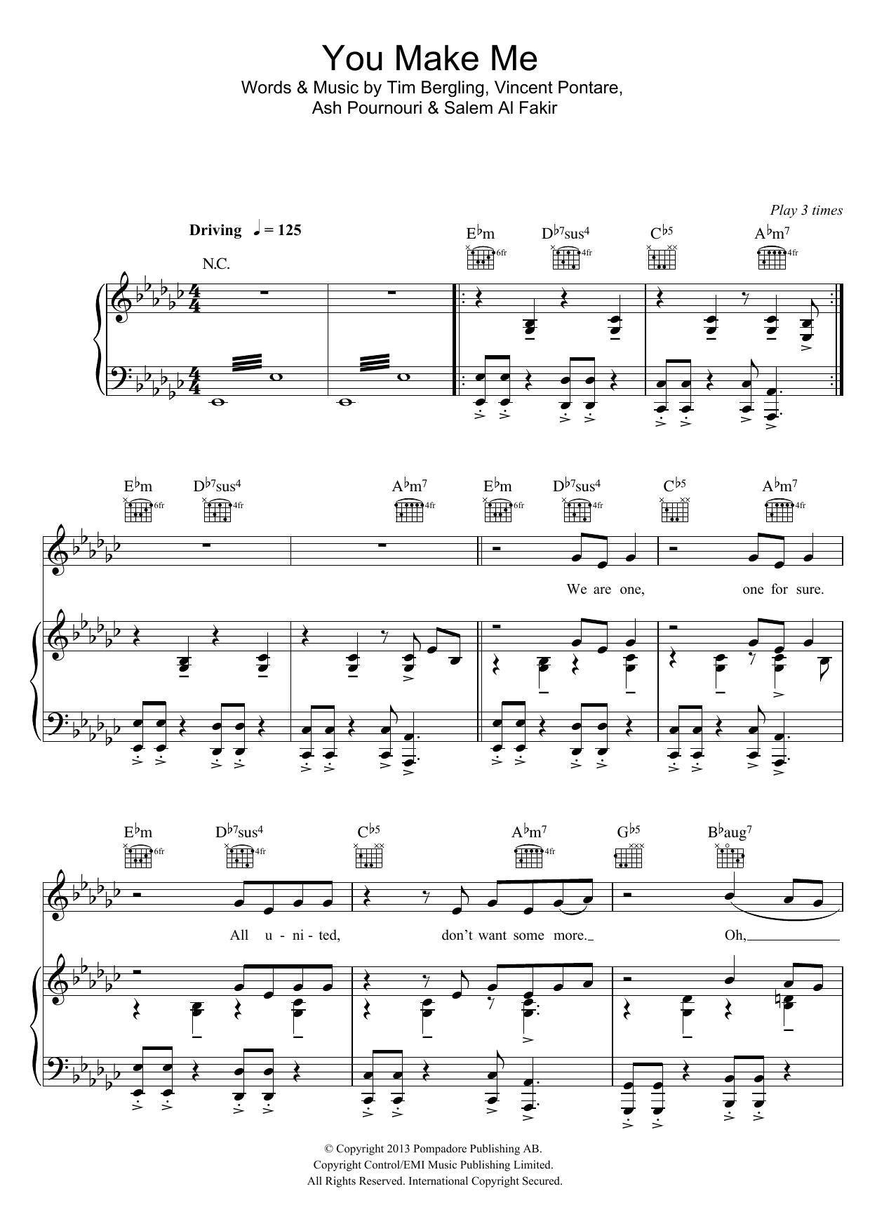 You Make Me (Piano, Vocal & Guitar)