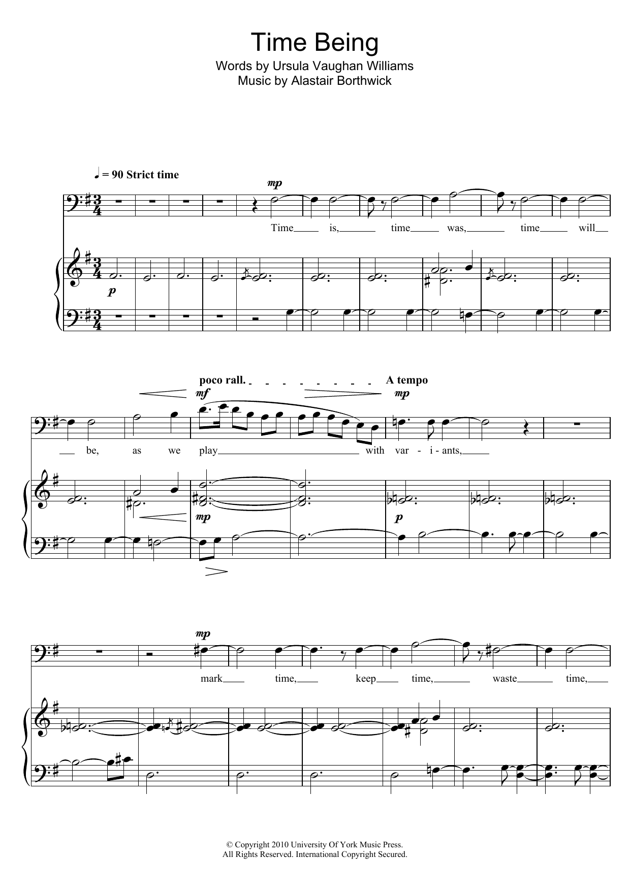 Time Being Sheet Music
