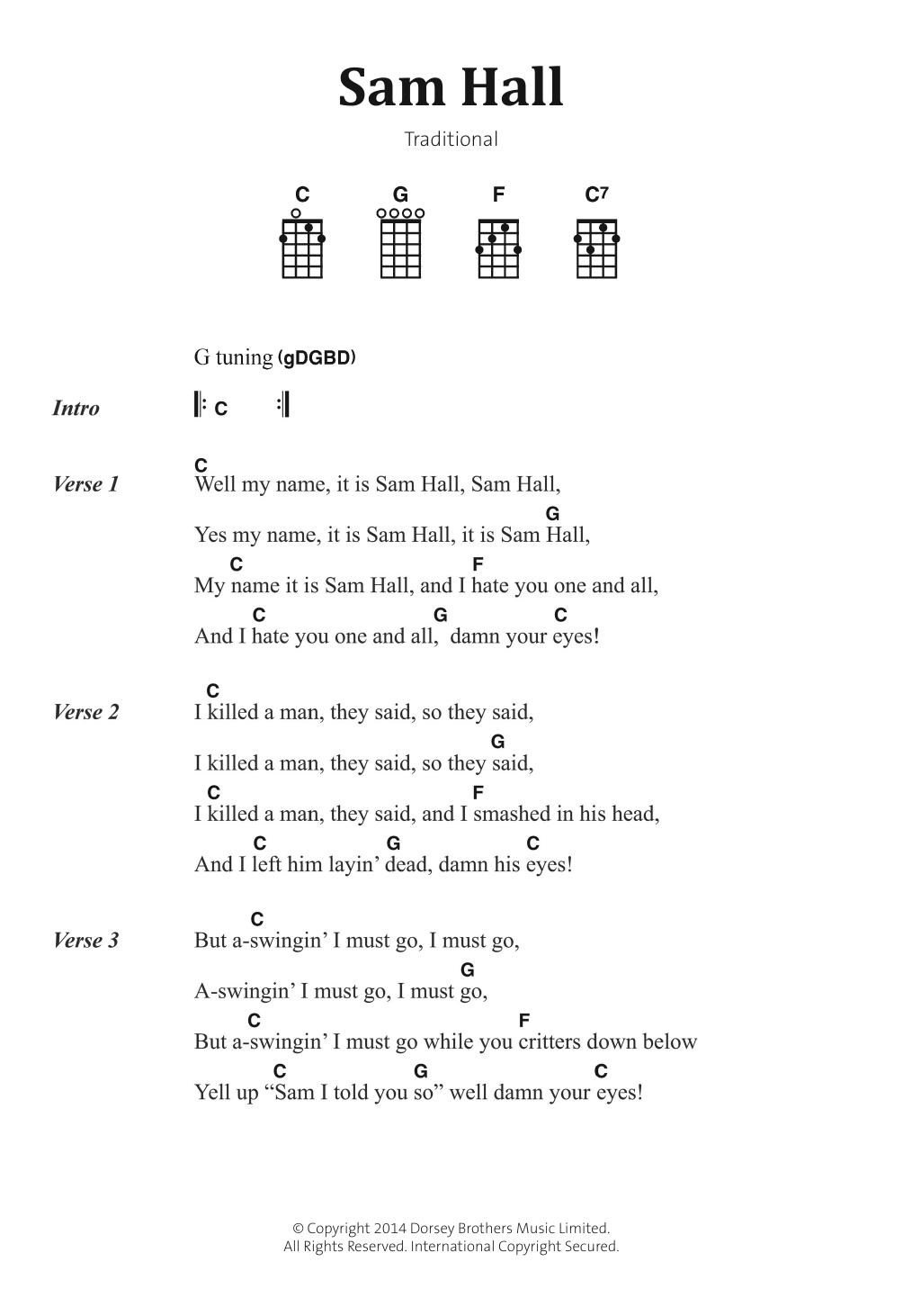 Sam Hall Sheet Music