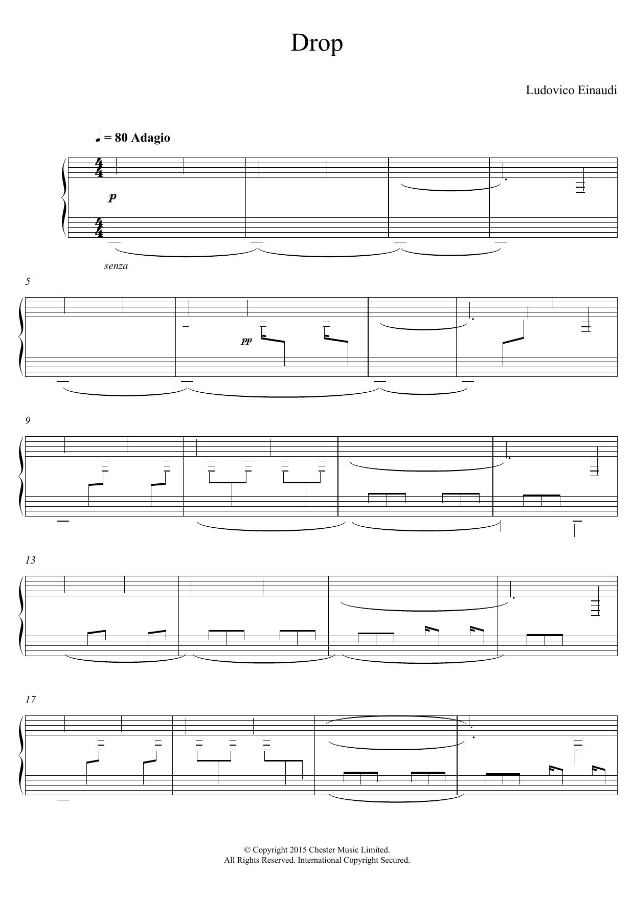 Drop Sheet Music