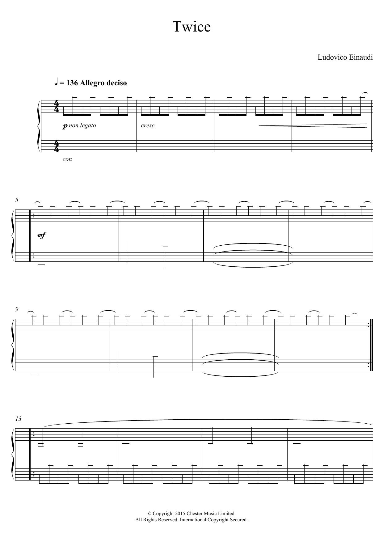 Twice Sheet Music