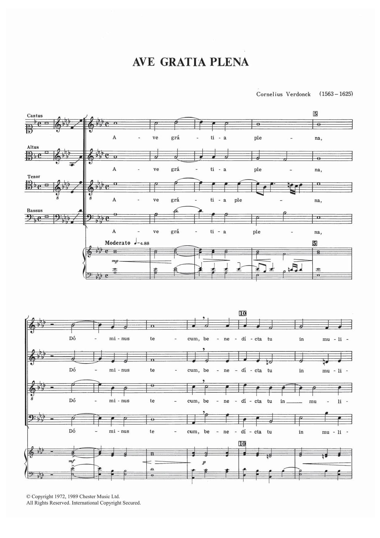 Ave Gratia Plena Sheet Music