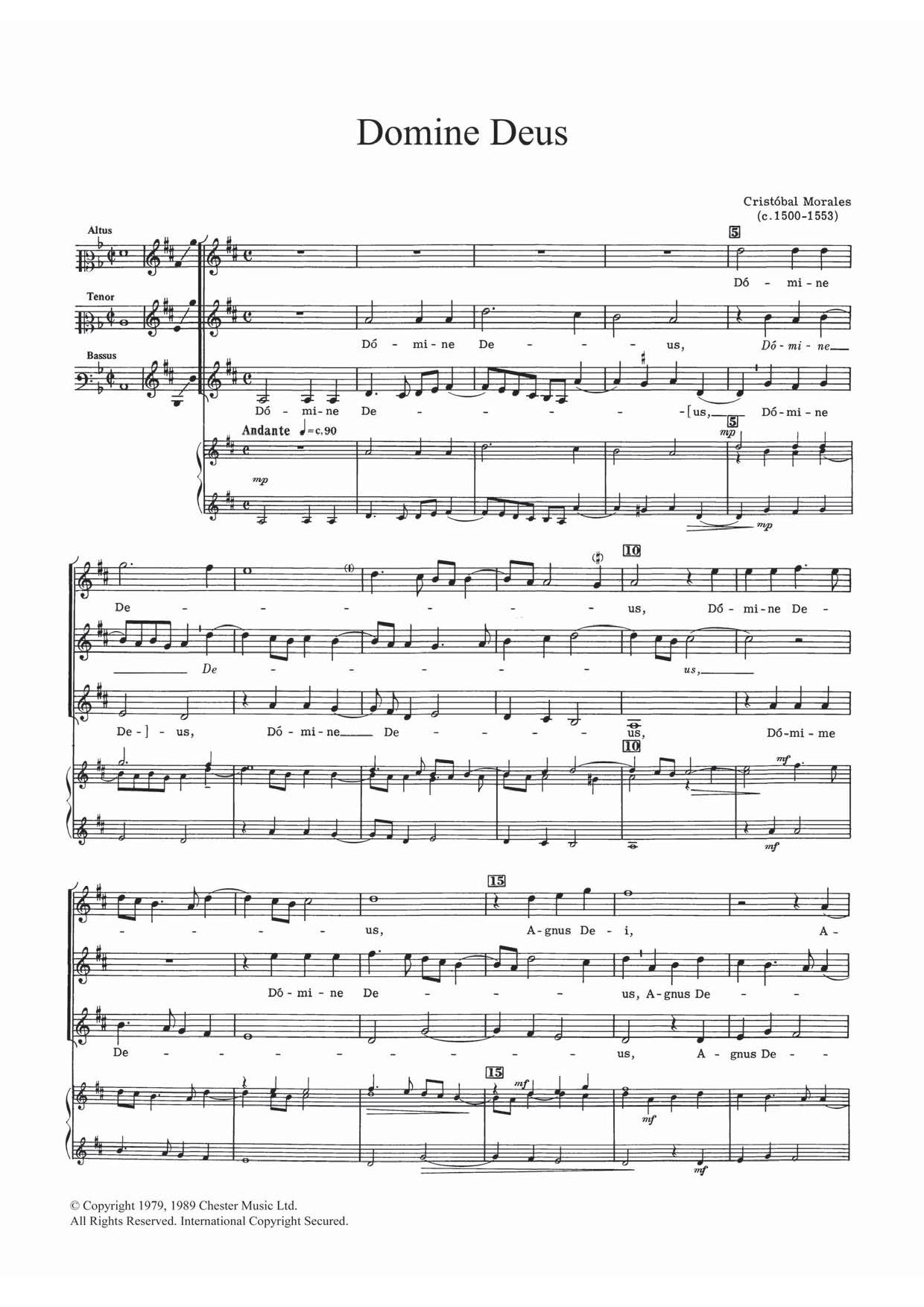 Domine Deus Sheet Music