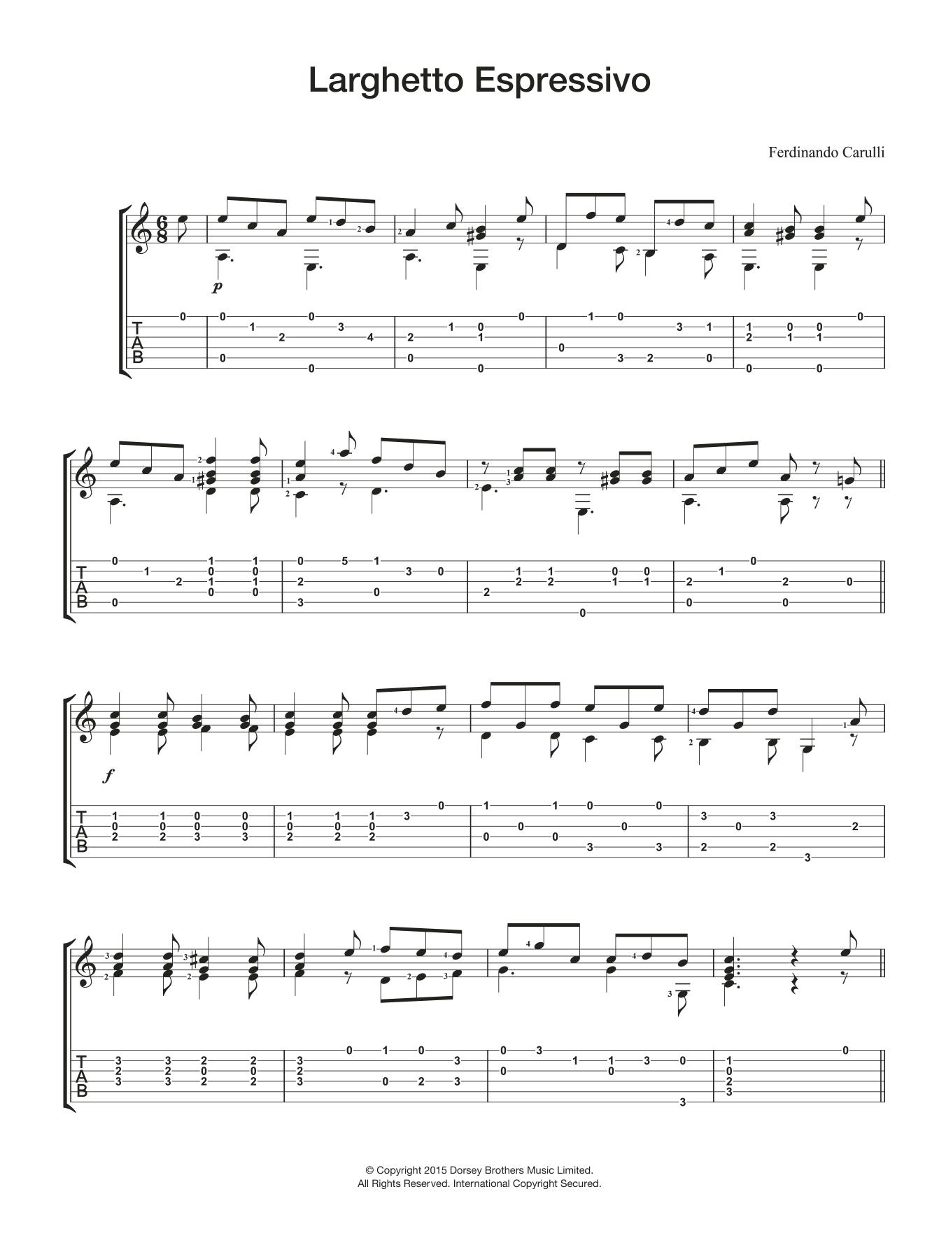 Larghetto Espressivo Sheet Music