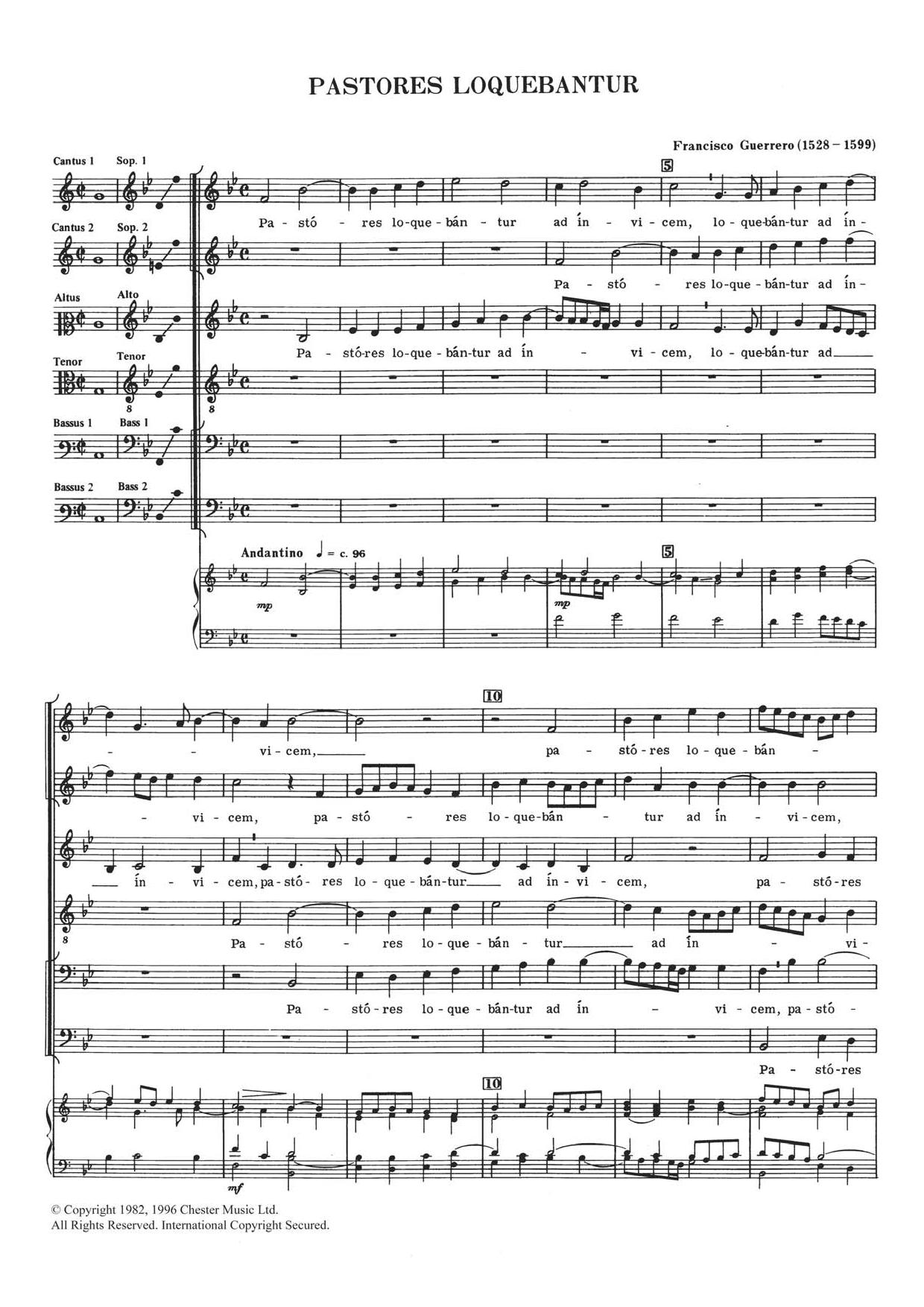 Pastores Loquebantur Sheet Music