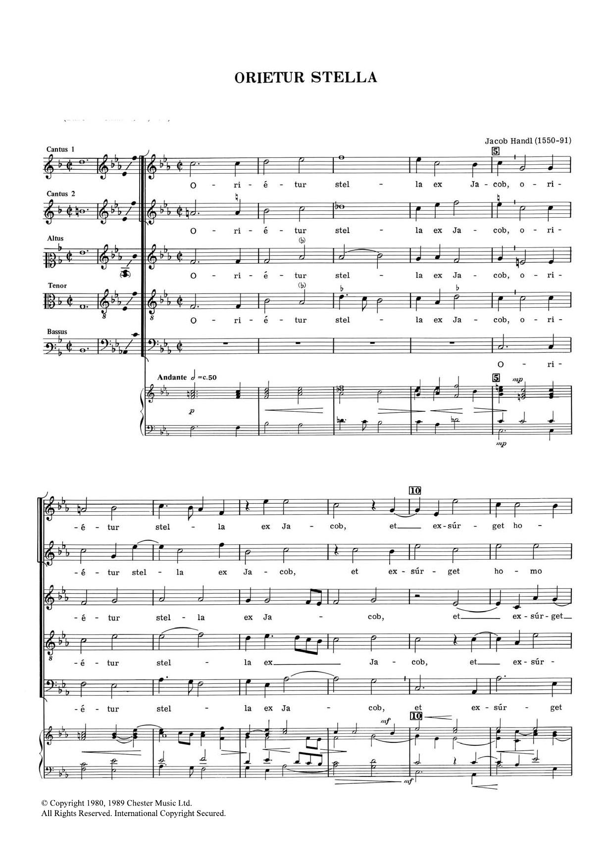 Orietur Stella Sheet Music