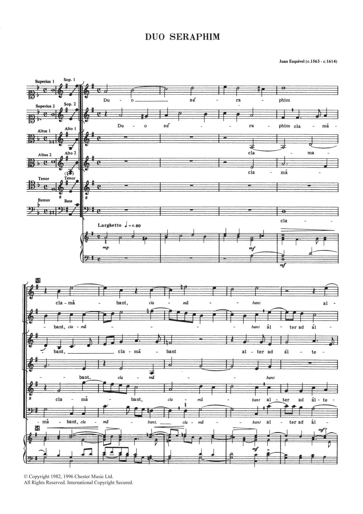 Duo Seraphim Sheet Music