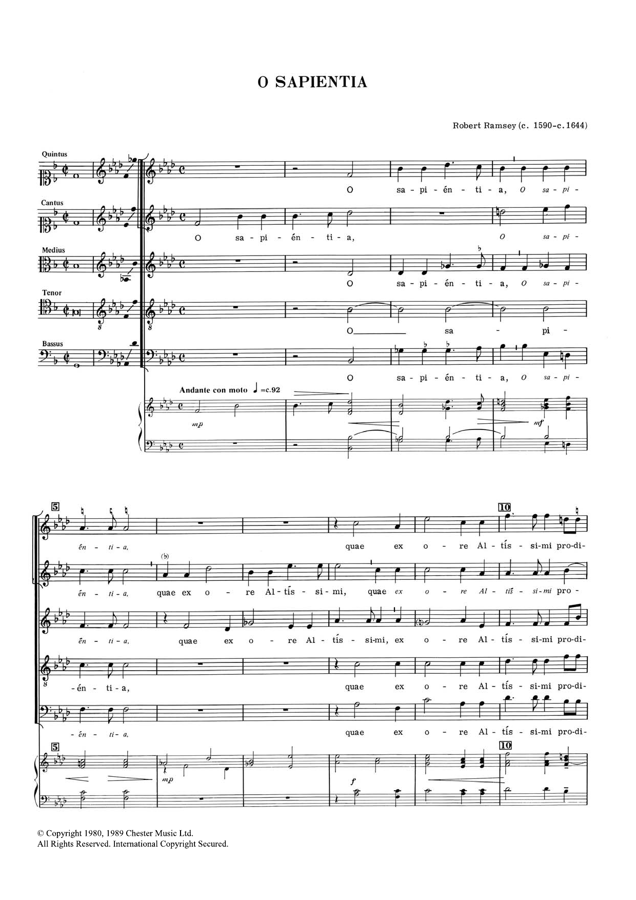 O Sapientia Sheet Music
