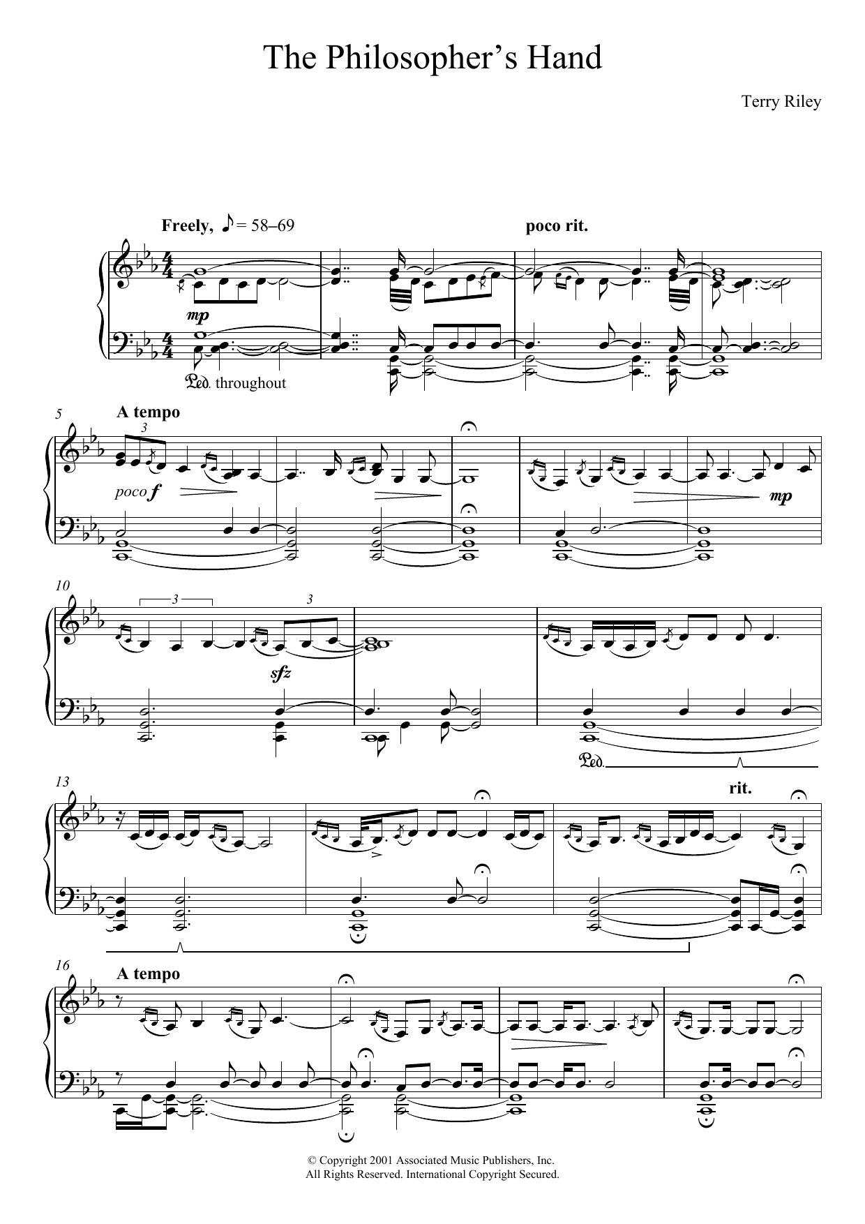 The Philosopher's Hand Sheet Music