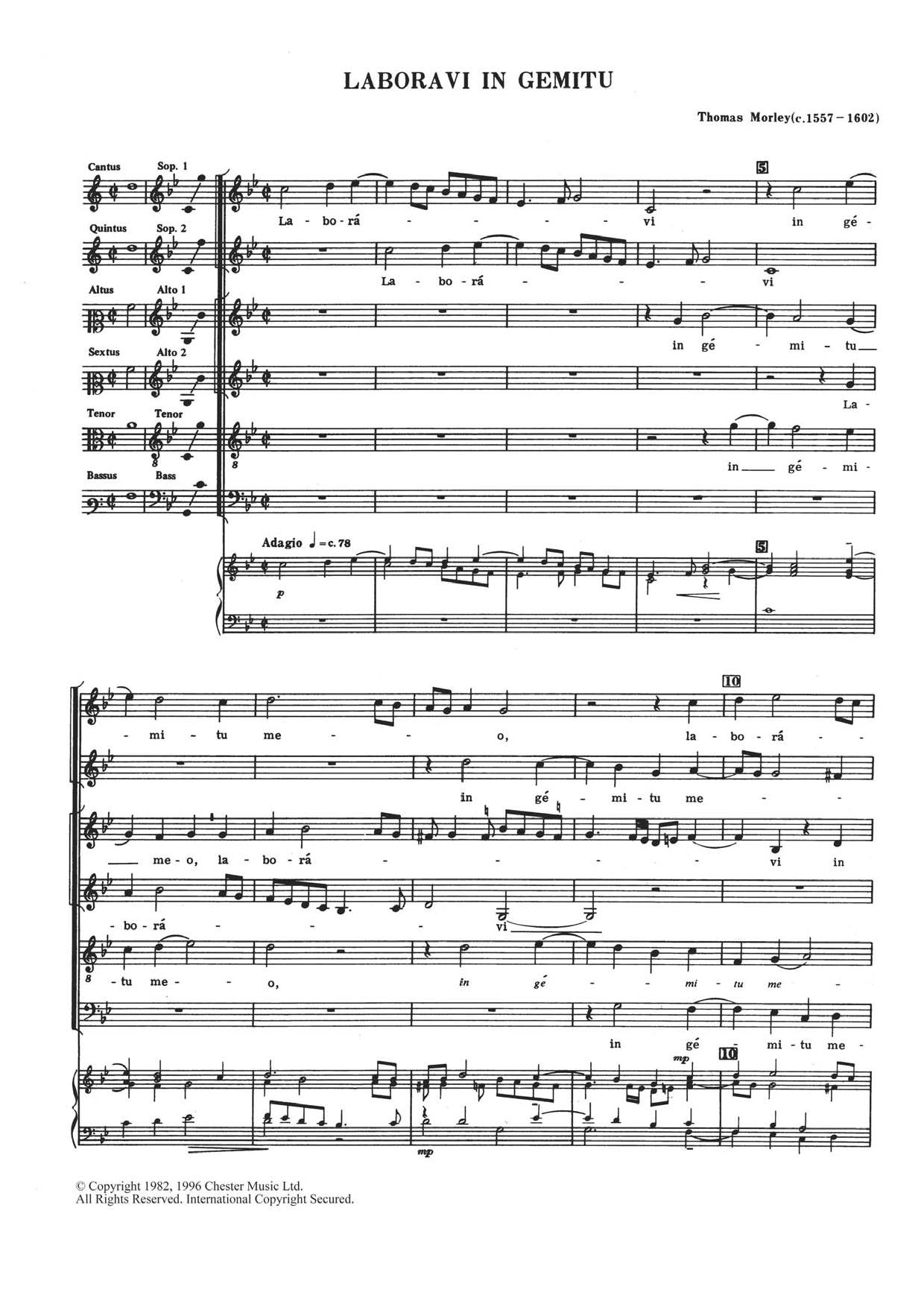 Laboravi In Gemitu Sheet Music