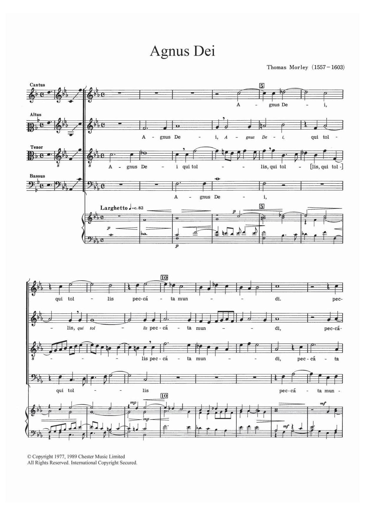 Agnus Dei Sheet Music