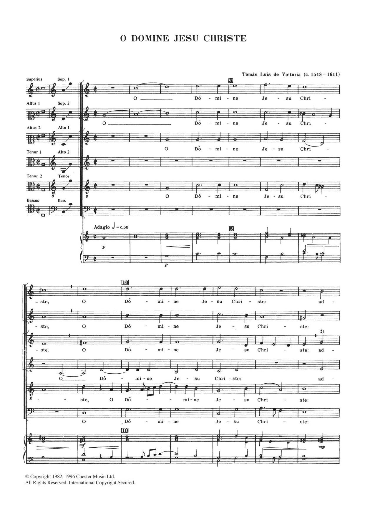 O Domine Jesu Christe Sheet Music