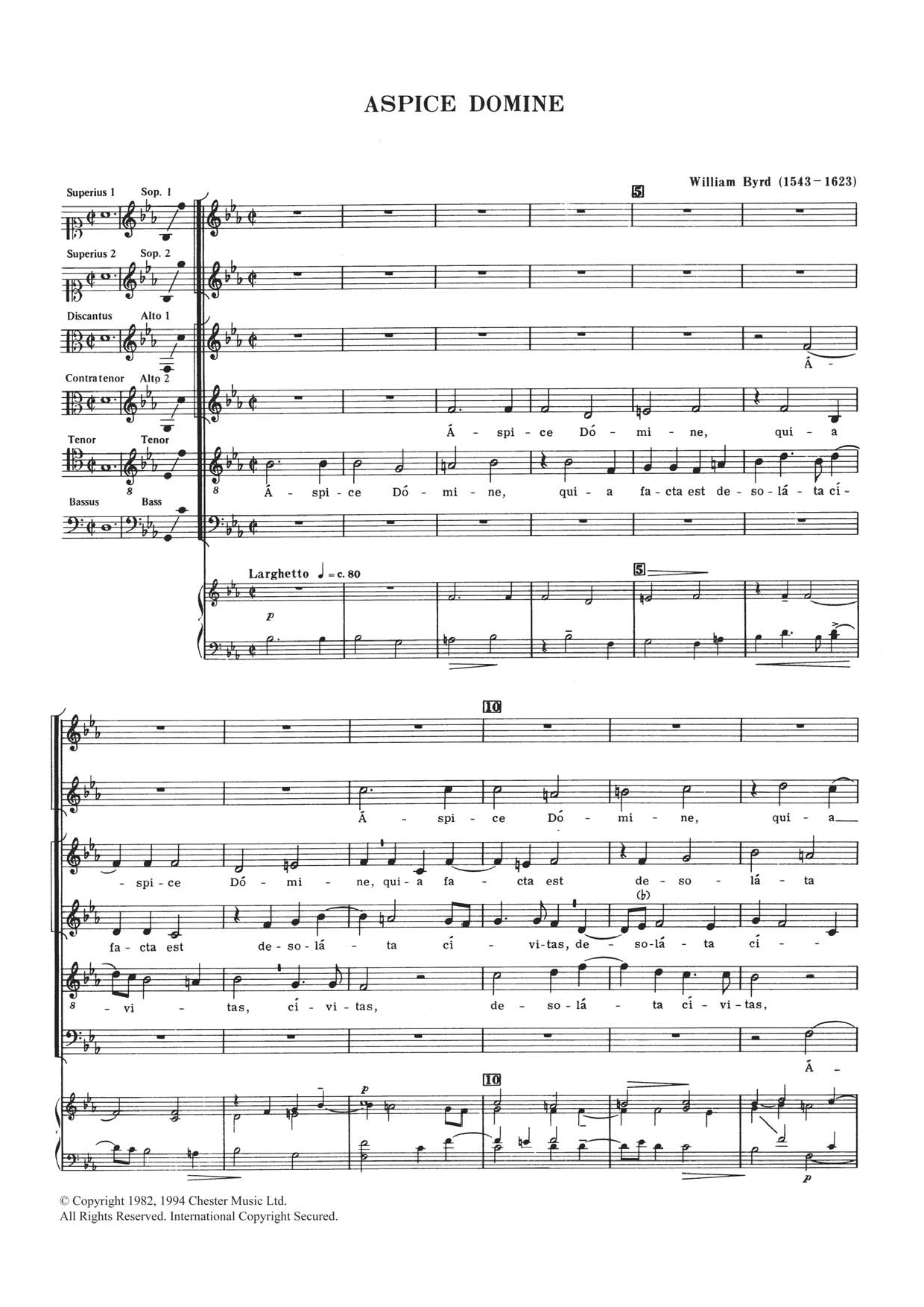 Aspice Domine Sheet Music