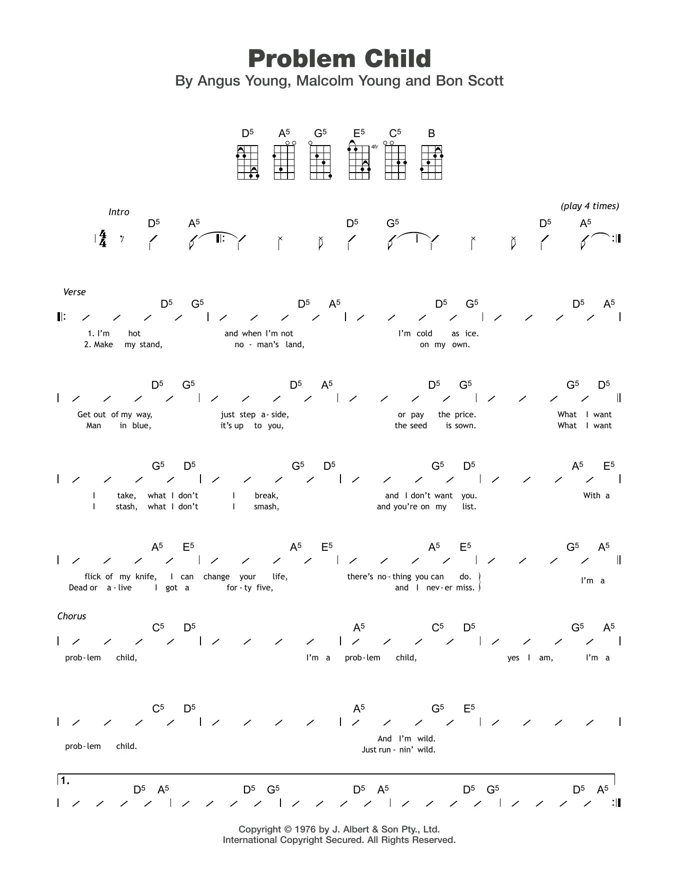 Problem Child Sheet Music