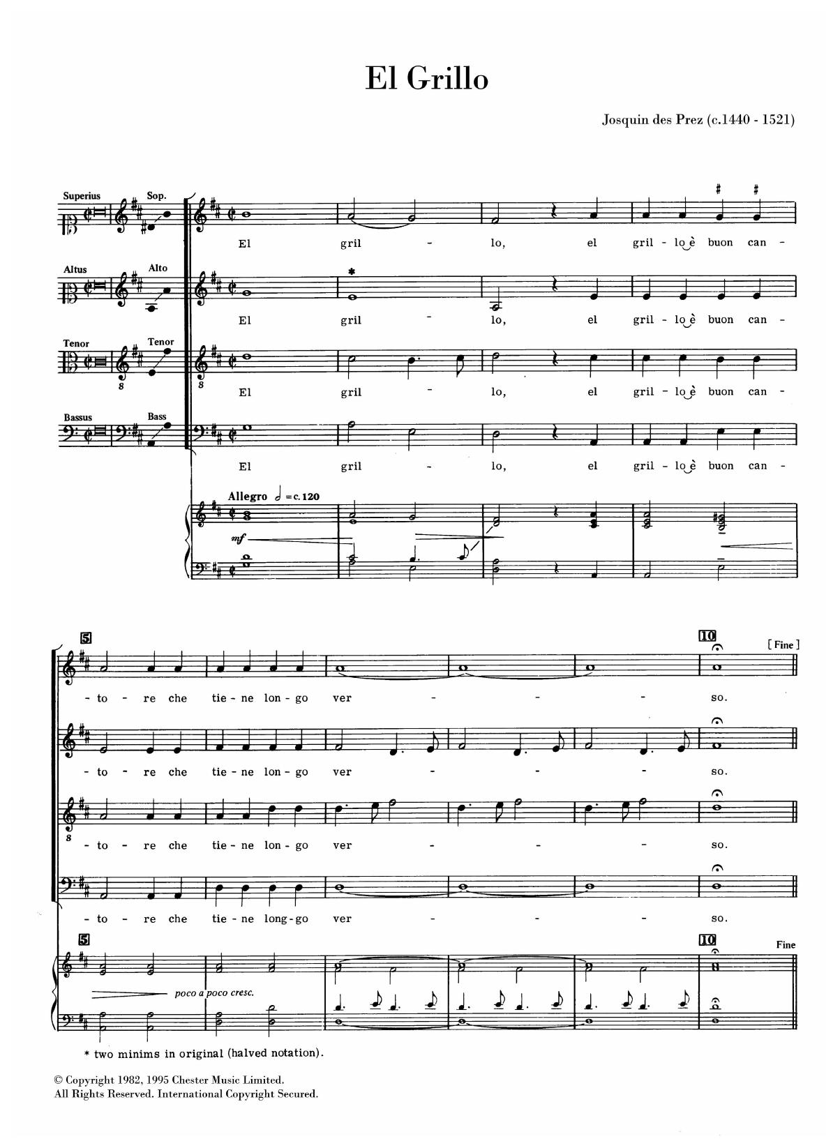 El Grillo Sheet Music
