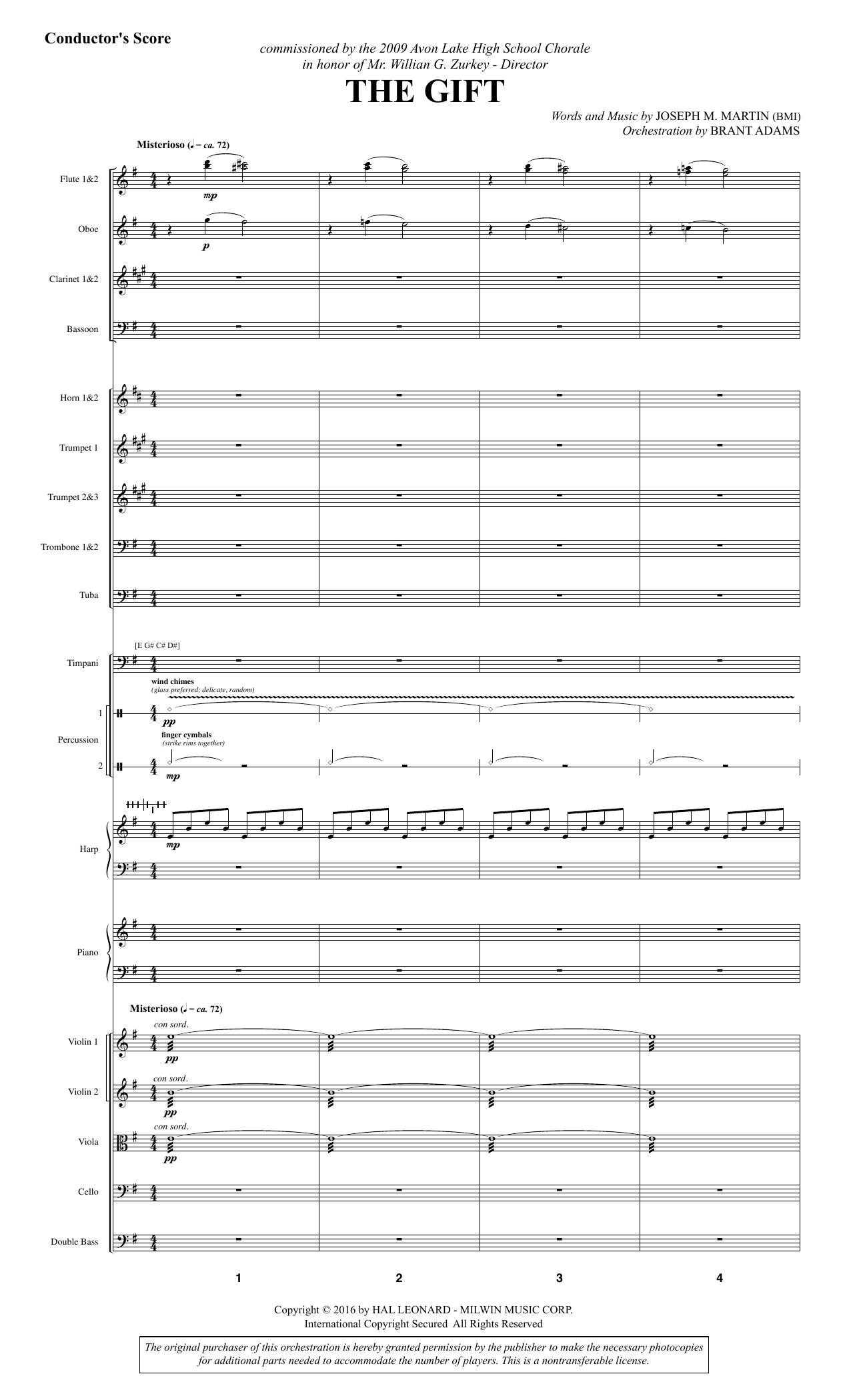 The Gift - Full Score (Choir Instrumental Pak)